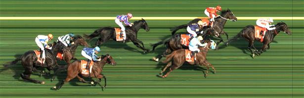 Caulfield Race 3 No.5 Saccharo @ $8 (0.72 UNIT WIN)  Result: Unplaced at SP $8.00. Settled at the tail, was the widest on the turn and ran on well but was too far back and never made an impression on the winners. Outcome -0.72 Units.
