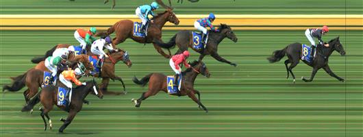 🏆🏆🏆🏆🏆 SANDOWN HILLSIDE Race 2 No. 8 Soul Star @ $3.30 (1.5 UNITS WIN)   Result :  1st  at SP $3.00, Best Tote $2.90, Betfair $3.25. Coming from midfield, got a split early in the straight and from then won comfortably by over a race. Nice run but nice finish too. Outcome + 4.95 Units.