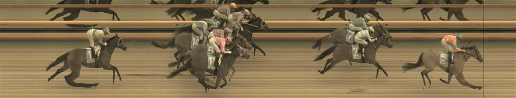 BALLARAT SYNTHET Race 8 No. 7 Raffine @ $6   Result : 3rd at SP $5.50. Settled just off the speed, one off the rails. In the straight, gaps opened nicely to have a nice uninterrupted run home but just found a couple better and was edged out in a photo for second. Outcome -1.00 Units.