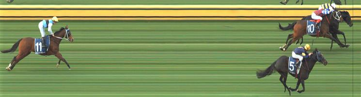 🏆🏆🏆🏆SANDOWN HILLSIDE Race 3 No. 9 Future Score @ $3   Result : 1st at SP $3.60, Best Tote $3.70, Betfair $3.70. Coming from the back, kept to the inside and saved ground to score a narrow victory. Saving ground a big factor in the narrow victory. Outcome +4.50 Units.