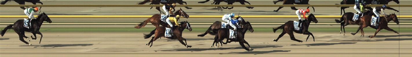 RACING.COM  SYNTH Race 1 No. 3 Galactic Express  Result : Unplaced at SP $17.00. Always out the back and never a winning hope. Outcome -0.31 Units.    🏆🏆🏆🏆🏆🏆   RACING.COM  SYNTH Race 1 No. 6 Western Sun  Result : 1st at SP $8.00, Best Tote $8.00, Betfair $10.50. Settling in second behind the leader, eased out on the turn and joined in the lead from about the 300m mark. Despite late challenge from the leader, pulled away in the final 100m to win by a length. Outcome +5.71 Units.