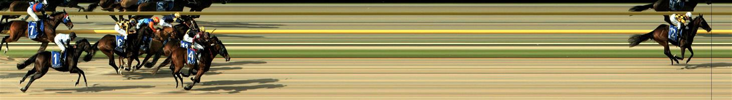 RACING.COM  SYNTH Race 2 No. 11 Uluru  Result : 3rd at SP $7.00. Coming from a midfield position, finished very strongly when the leader was off and gone but did finish in the placings. Outcome -0.83 Units.