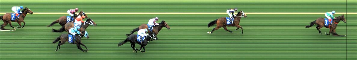 CAULFIELD Race 8 No. 3 Cliffs Edge  Result : 3rd at SP $5.50. Settled third on the rails, a couple of lengths from the leader. Kept going in the straight and just held on for third on the line but no match for the winner. Outcome -1.11 Units.