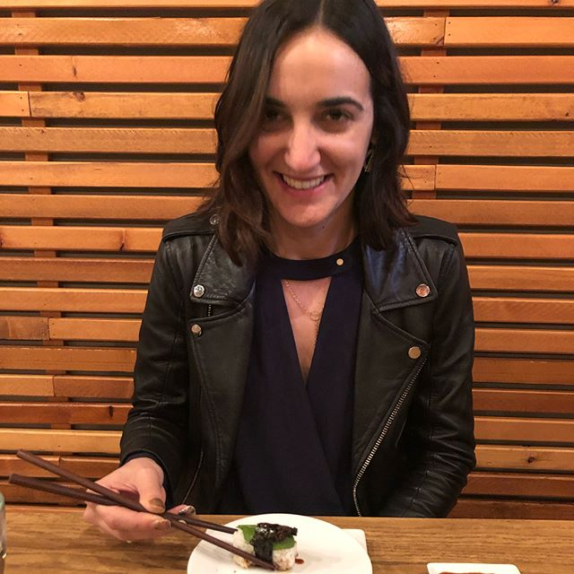 Happy V Day to this beautiful grasshopper eating lady!! #miamor #teamo #grasshopper #sushi #yumm