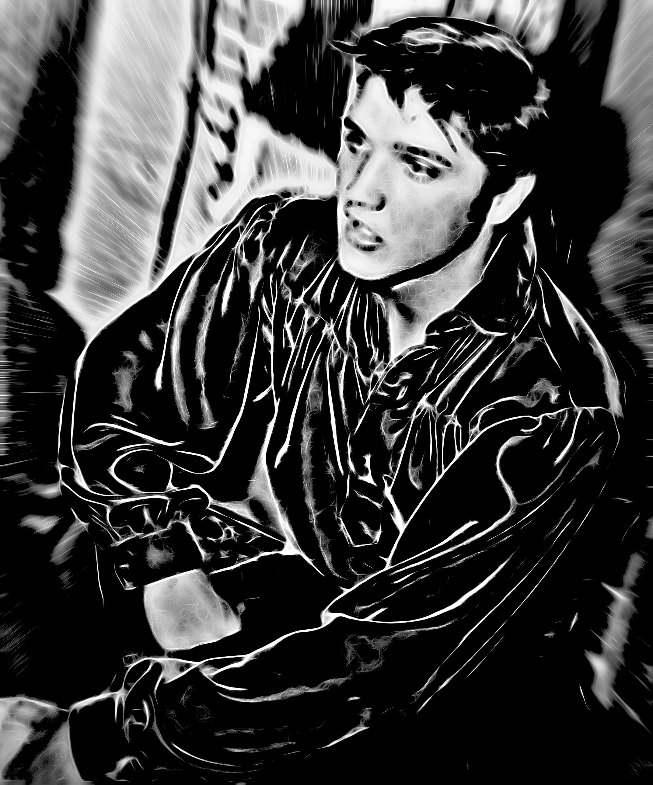 DSC05808 Elvis Black Shirt Glow.jpg
