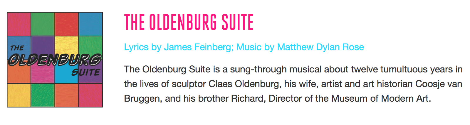 july 27 - july 28, 2019 - Junior is thrilled to be playing John Hightower/Javier Tusell in The Oldenburg Suite, a live concert, as part of the New York Musical Festival.