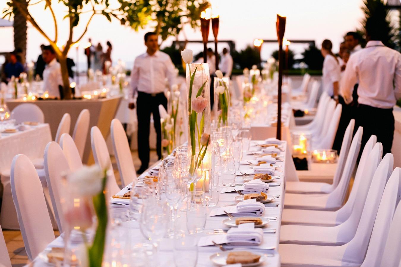 Yas Island Beach Club Wedding Reception