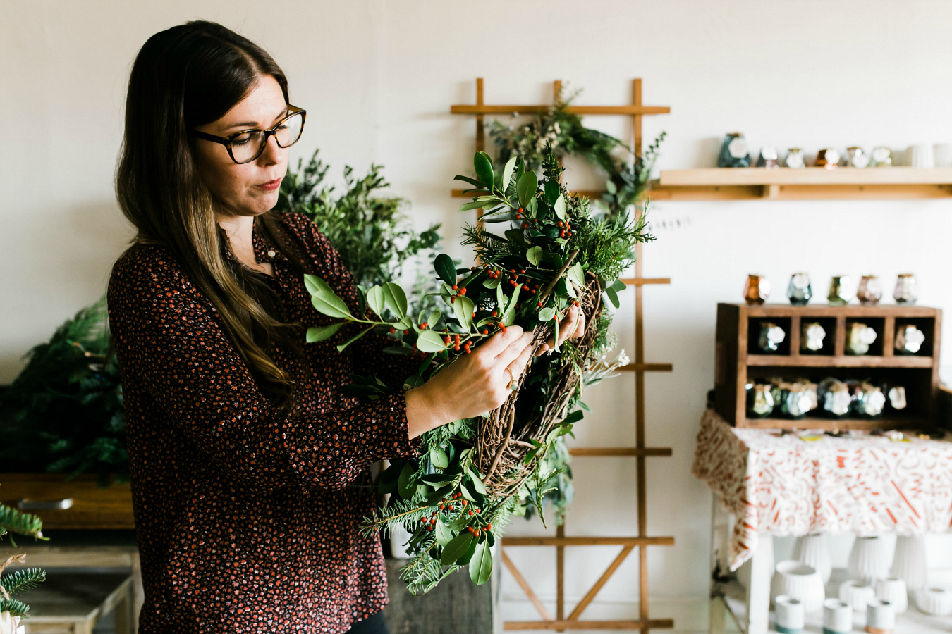How to Create a Natural Christmas & Holiday Wreath