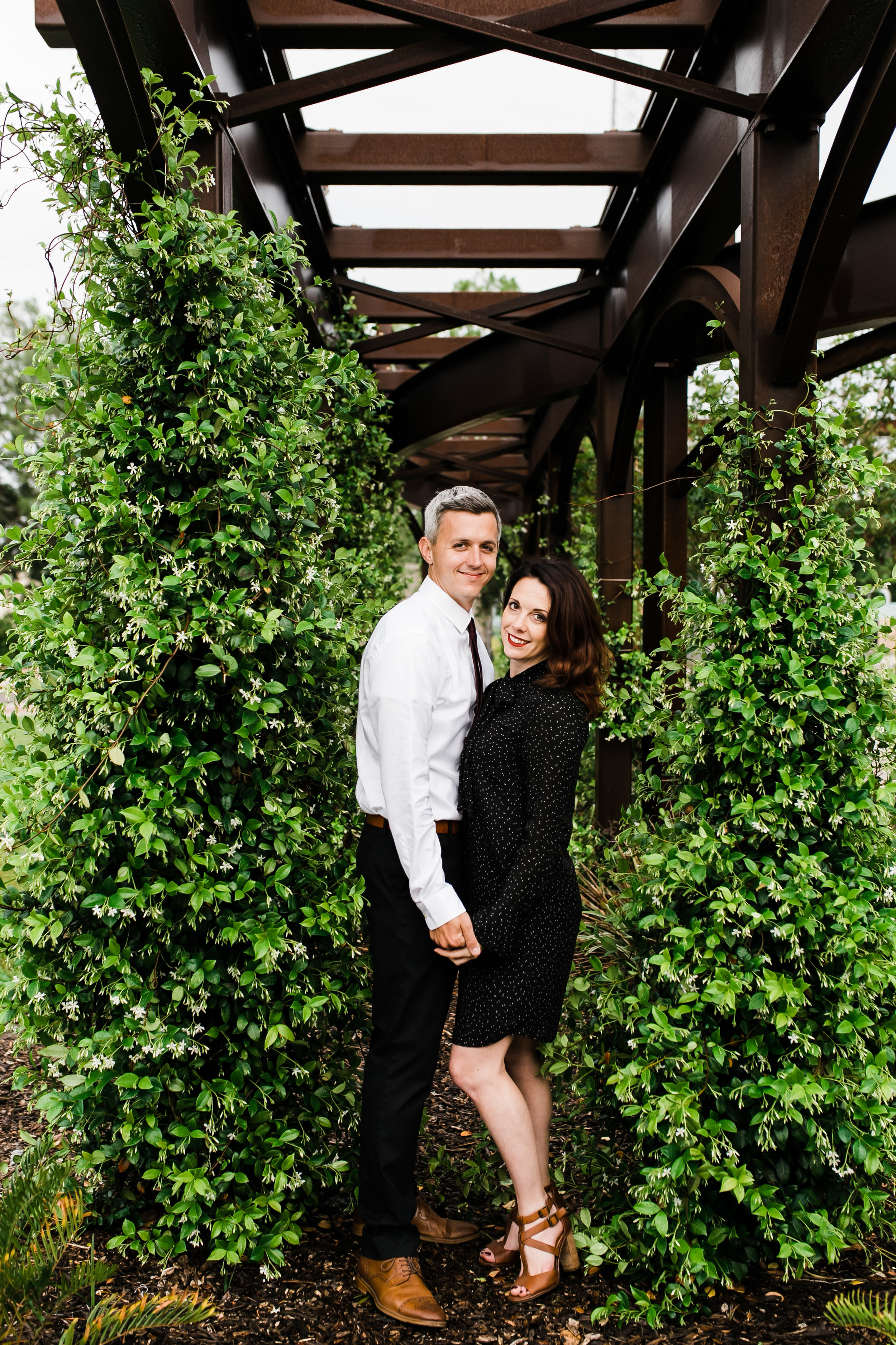 Modern Greenery Engagement Session in Depot Park Gainesville Florida
