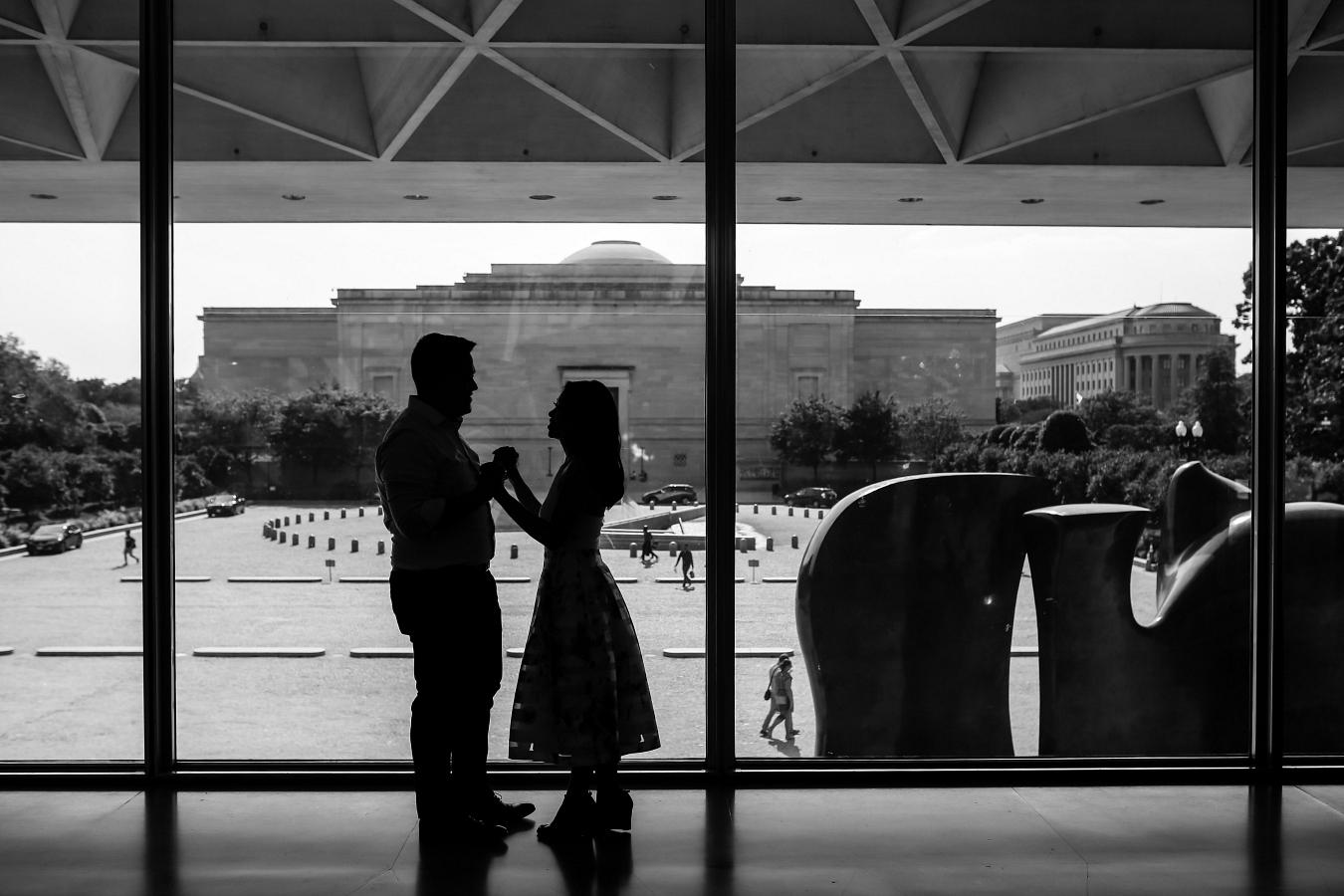 Smithsonian Art Gallery Engagement Photos + Ideas