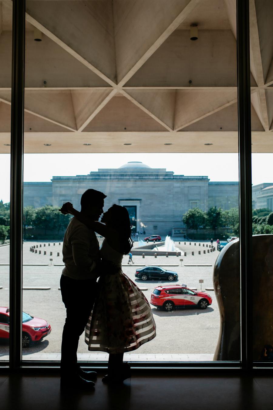 Engaged Couple in Washington DC