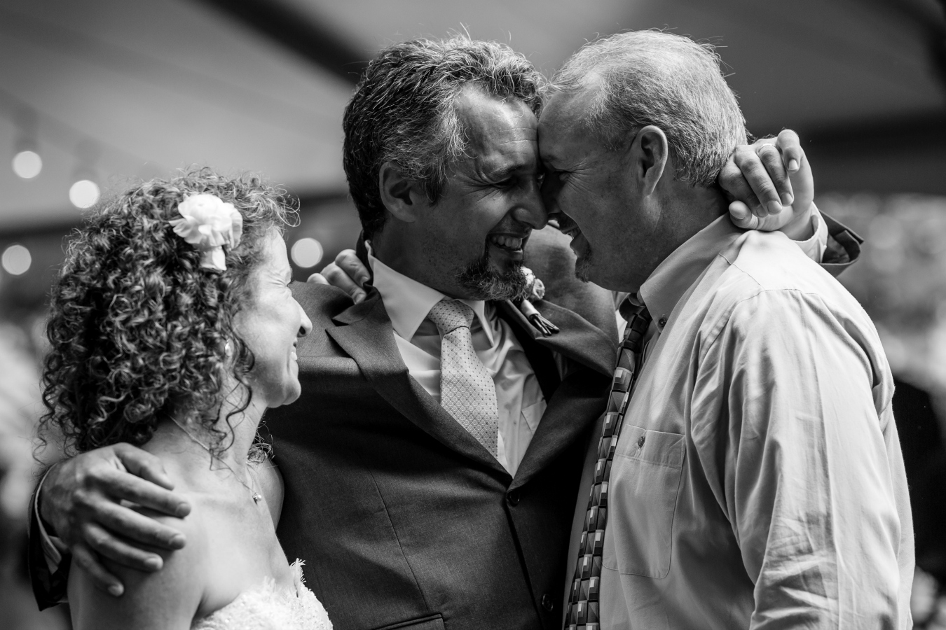 Black and White Wedding Moments with Guests