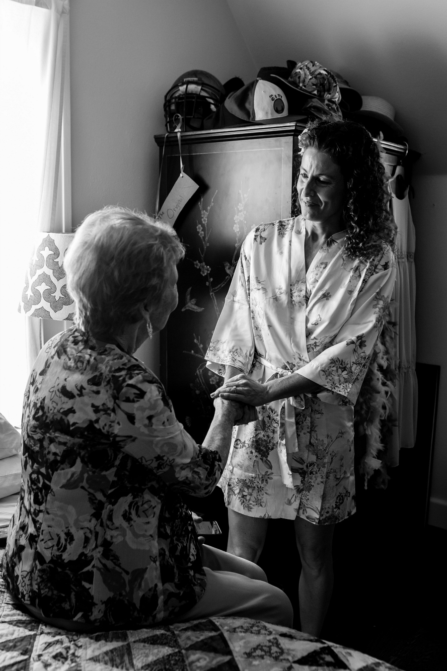 Bride and Her Mother on Wedding Day