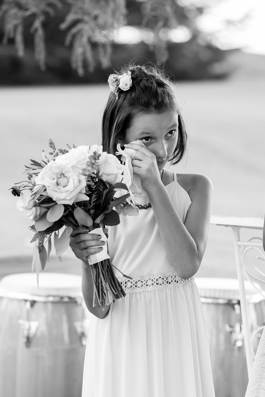 Stepdaughter as Bridesmaid Crying