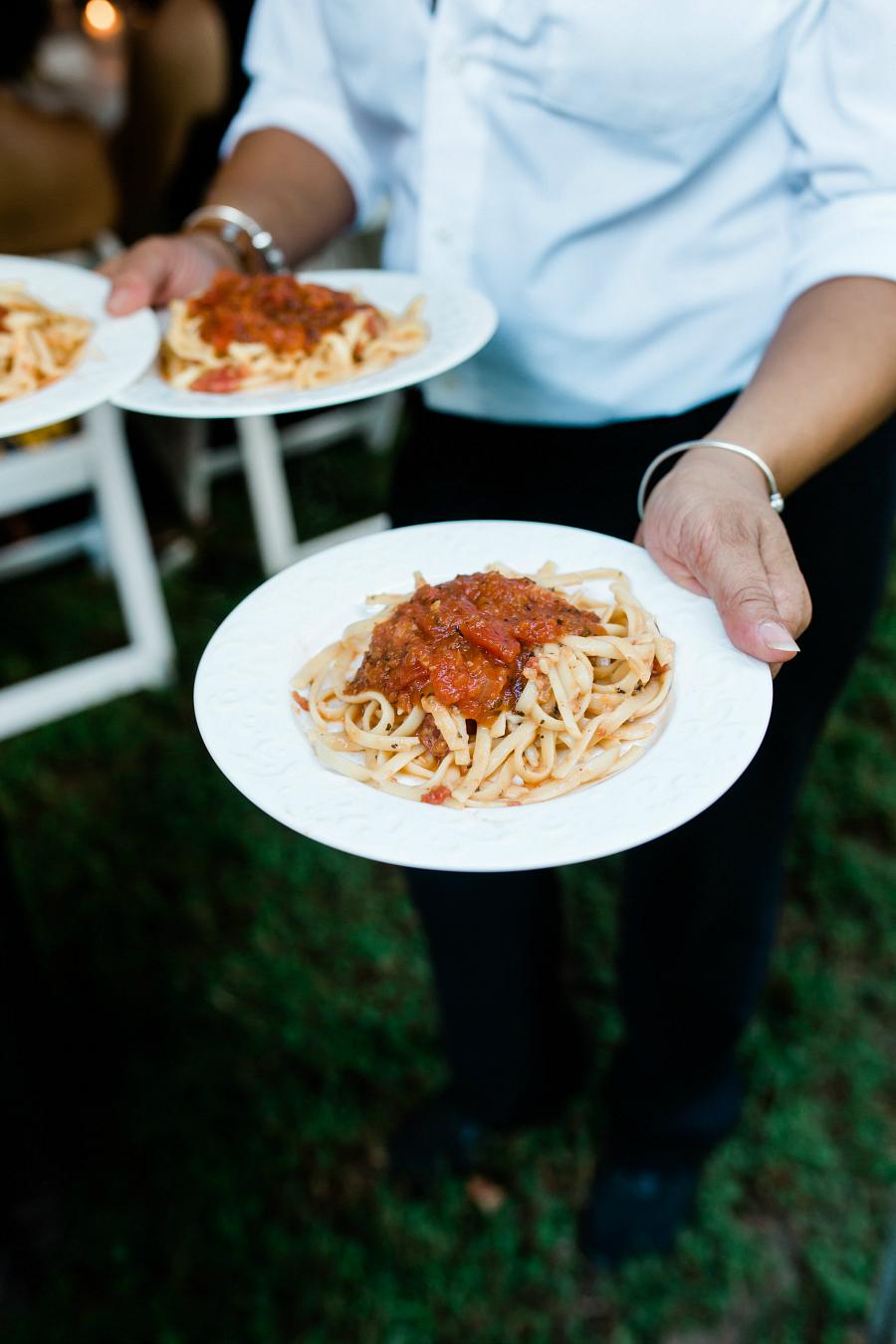Italian Wedding Day Food Ideas First Course Spaghetti
