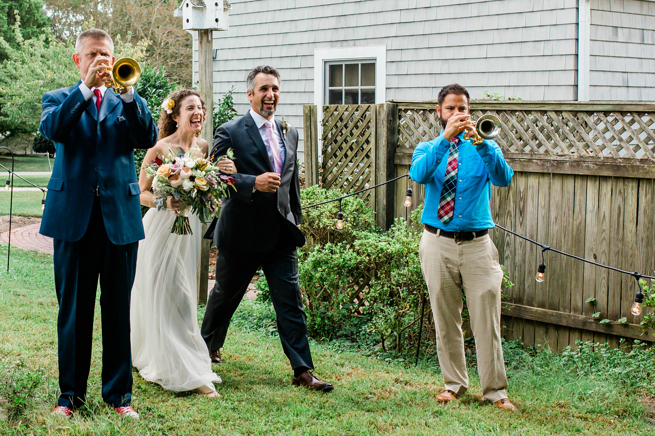 Bride and Groom Announced to Rocky Theme