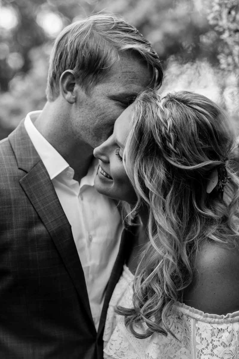 Romantic Black & White Wedding Photographs