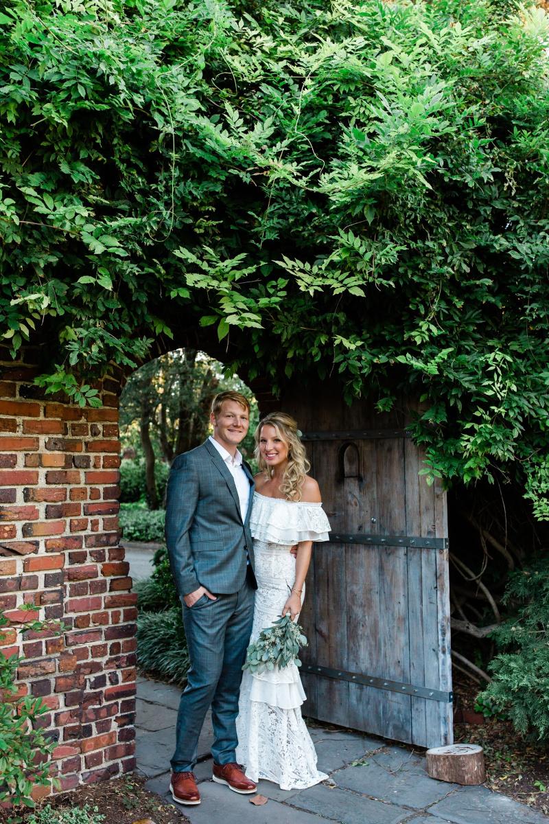 Bohemian Bride with Eucalyptus Bouquet