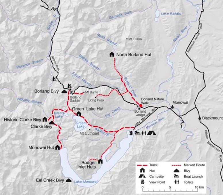 Borland walking map
