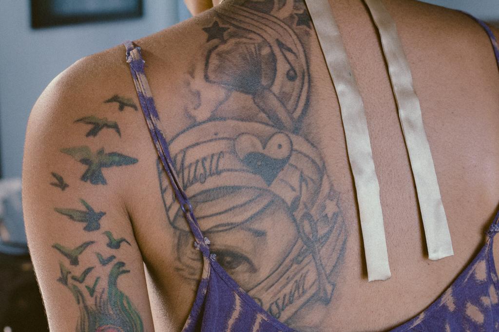 Artwork tattooed on Melanesia