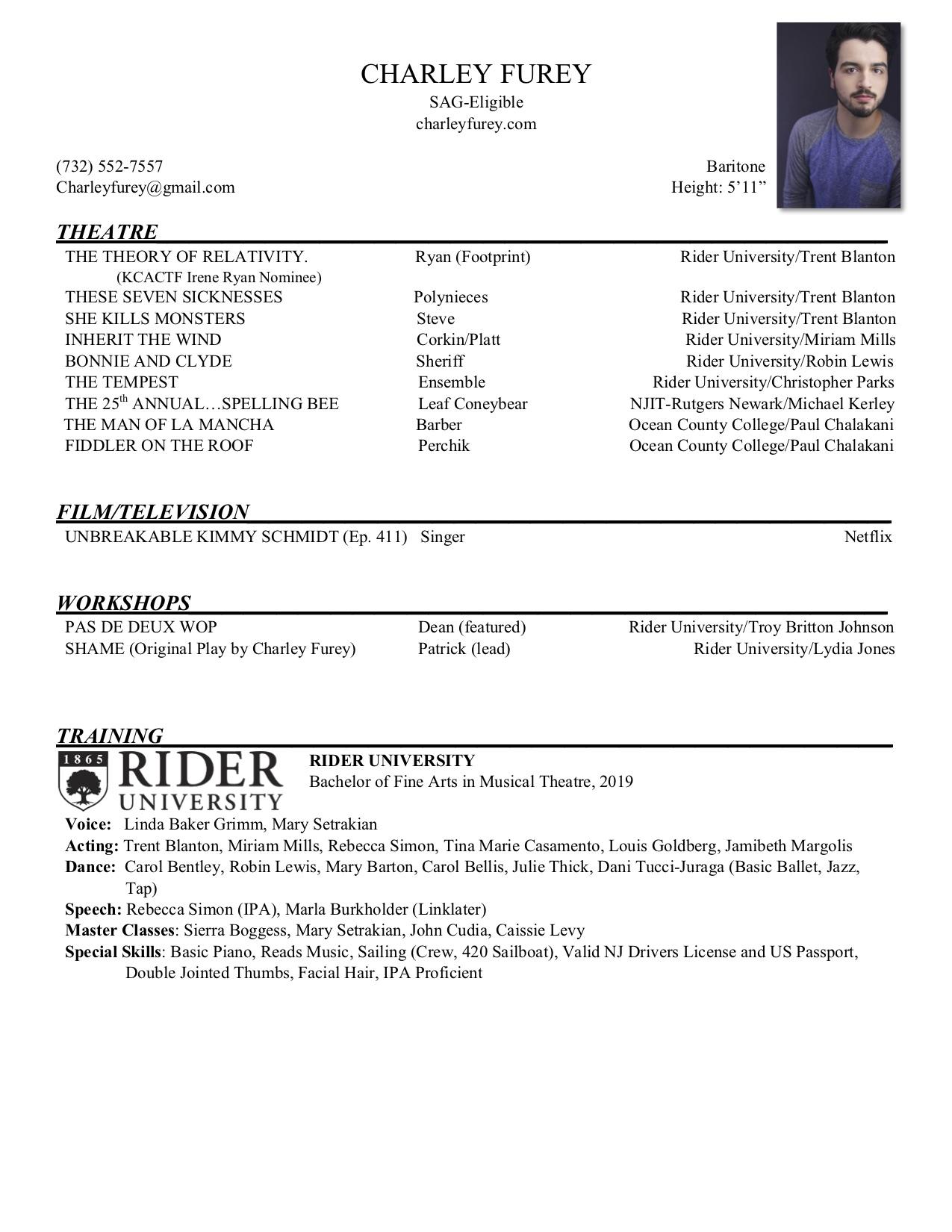 Photo Charley Furey Rider Resume w:Headshot.jpg