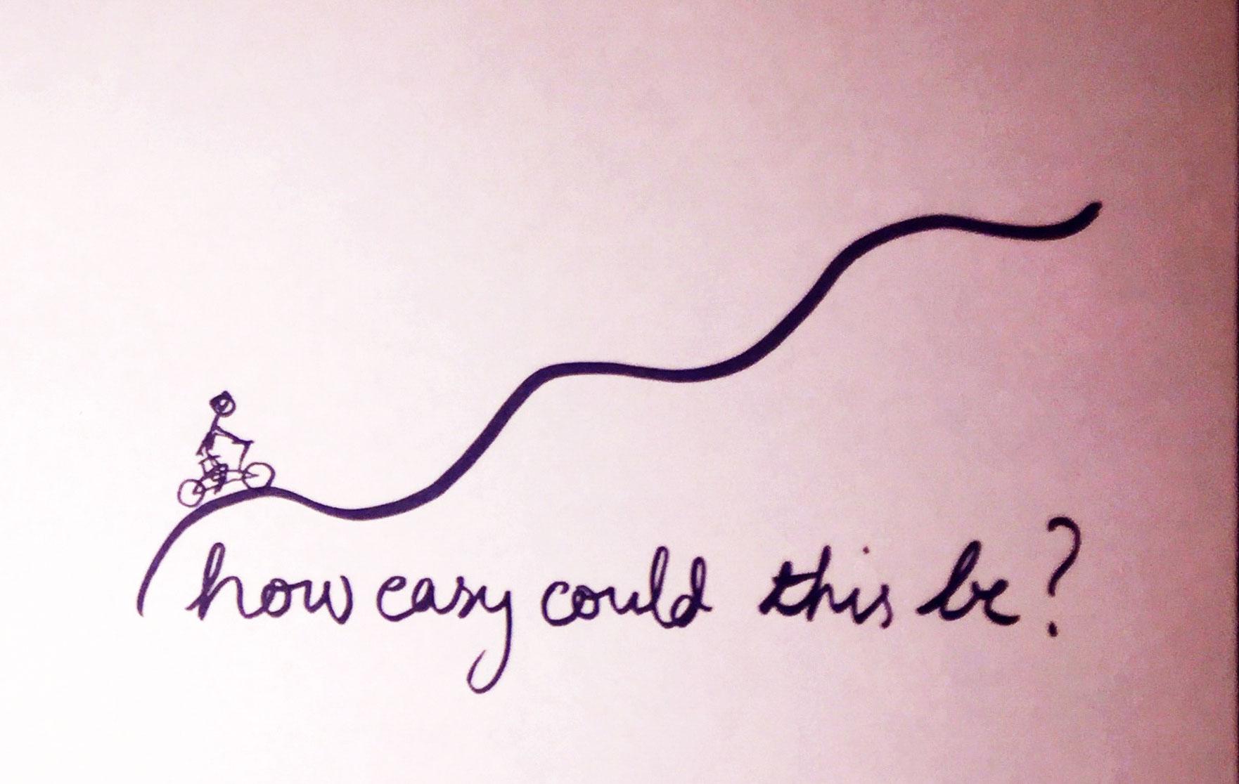 How easy? Drawing Luke Hockley.