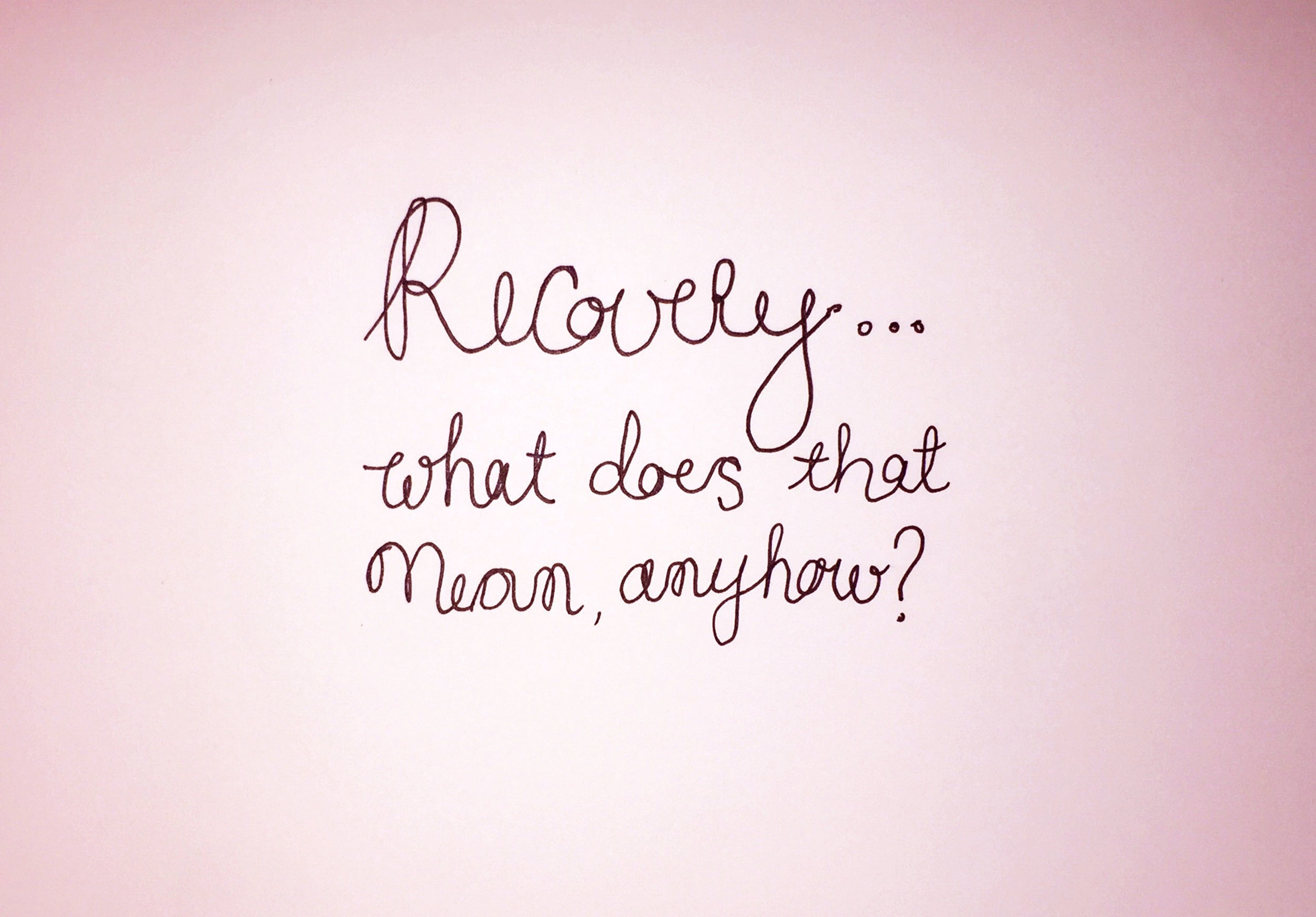 Recovery? Drawing Luke Hockley.