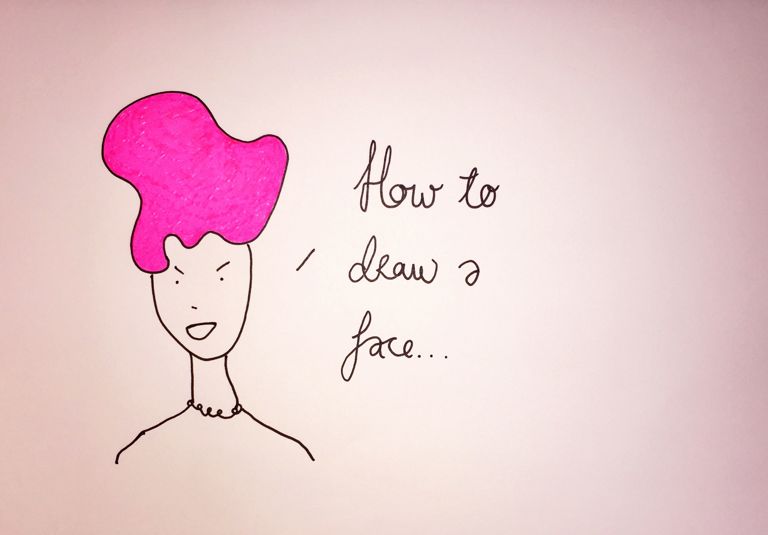 How to draw a face. Drawing Luke Hockley.