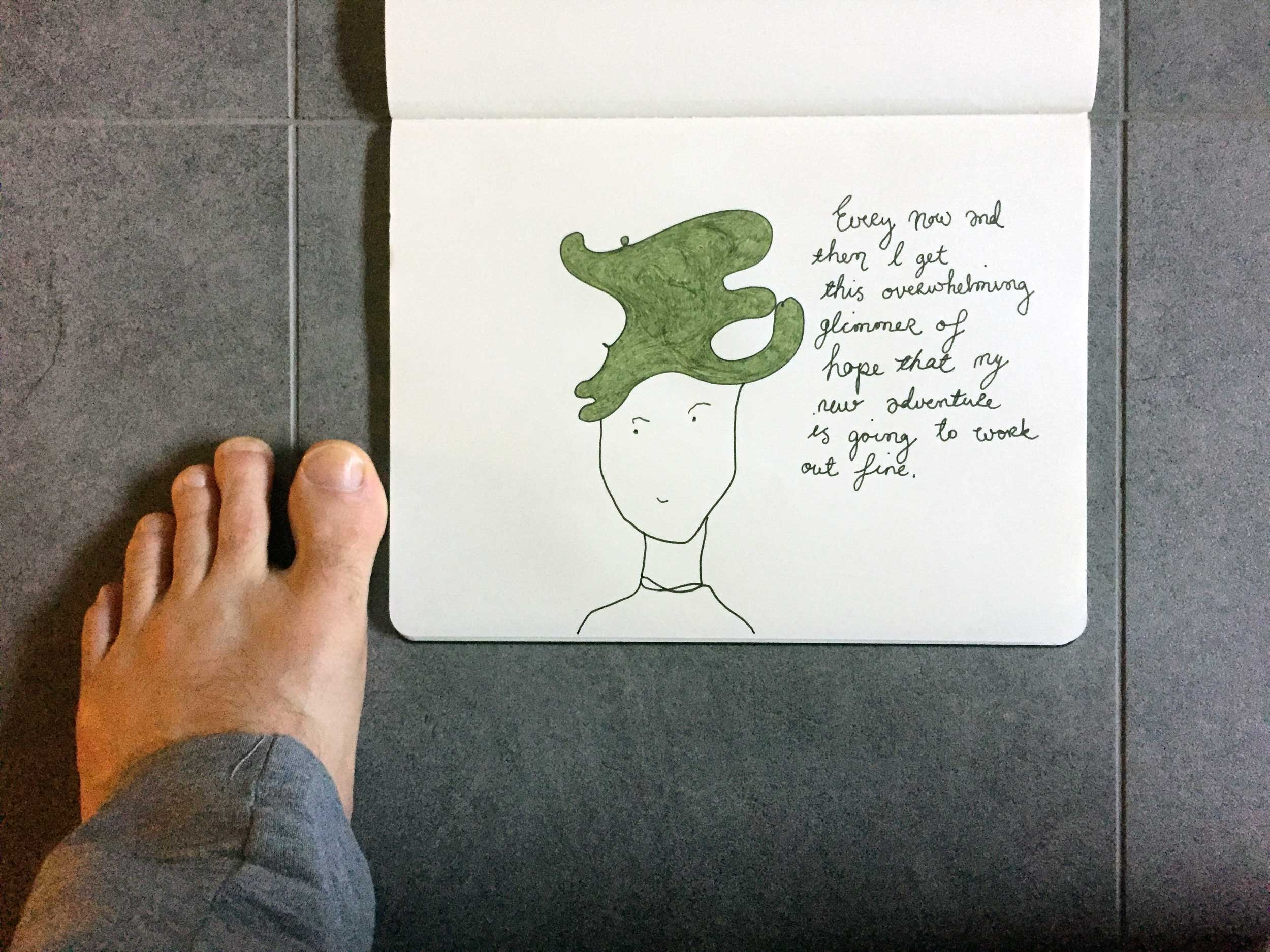 A glimmer of hope. Drawing Luke Hockley.