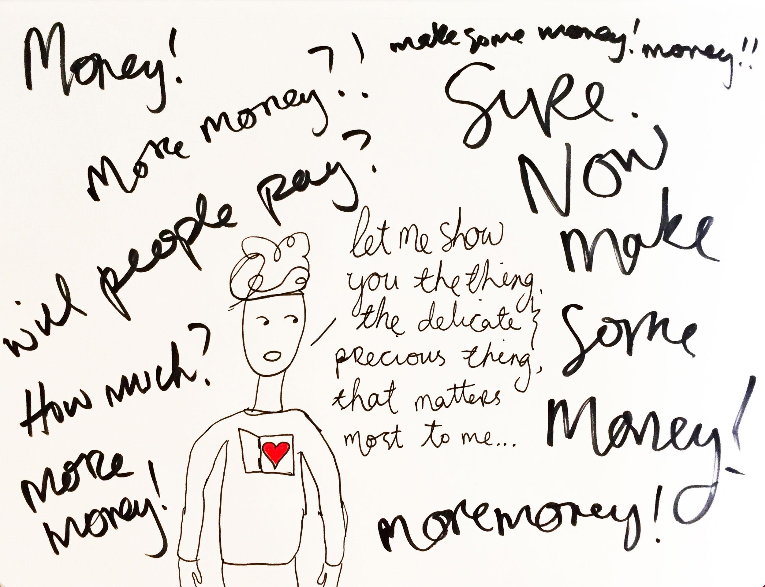 I'm avoiding you. Drawing Luke Hockley.