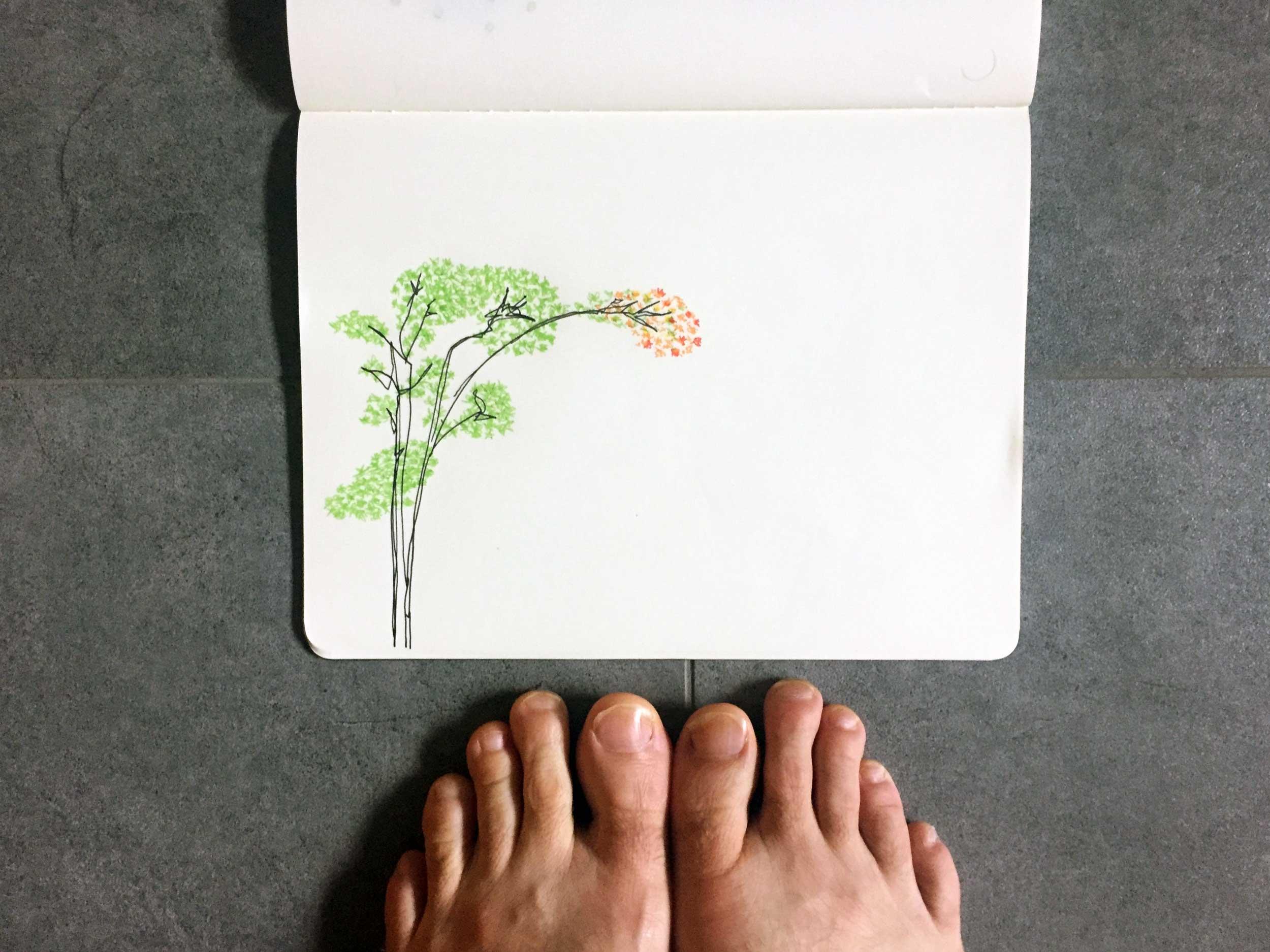 Always here. Drawing Luke Hockley.