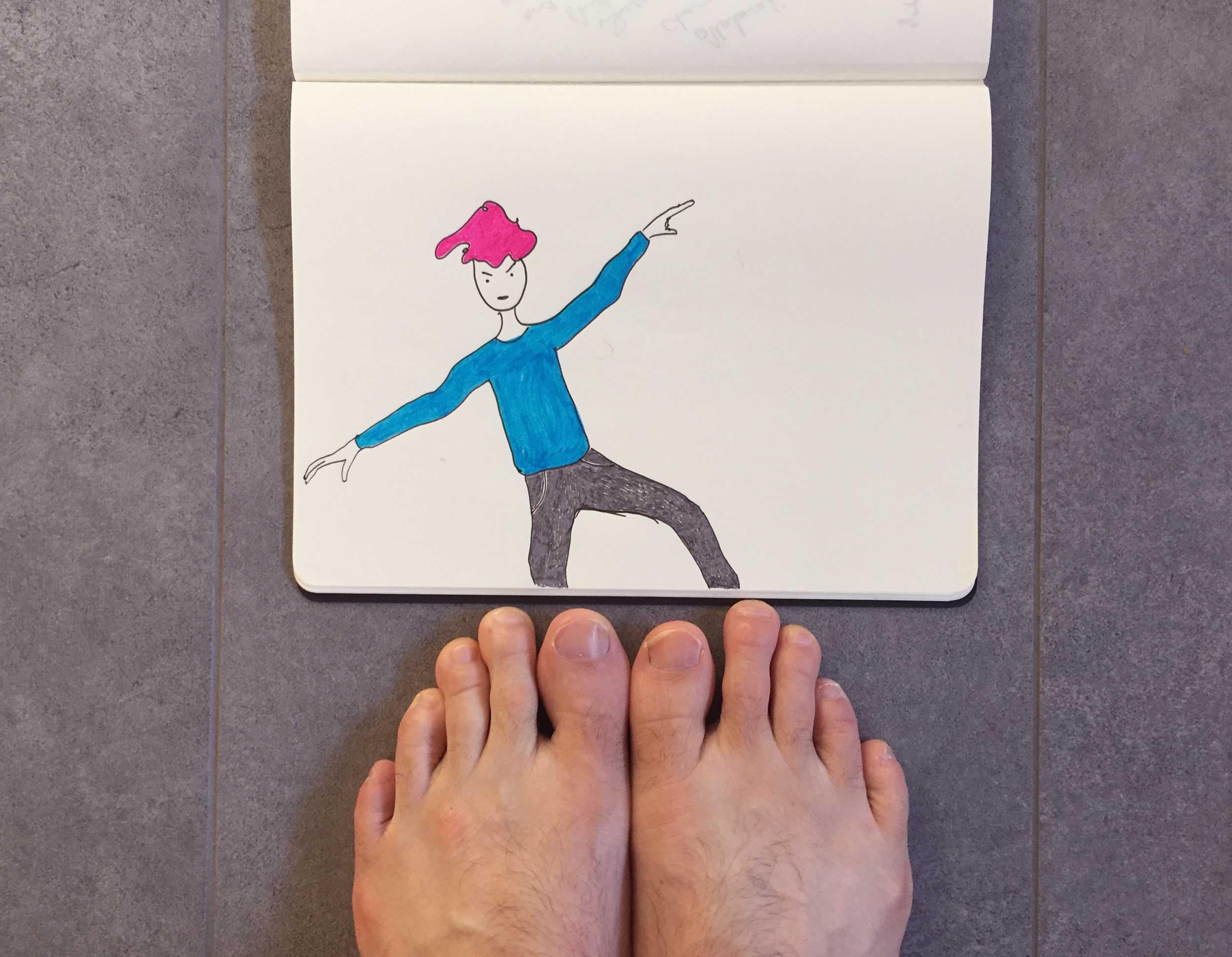 A balancing act. Drawing Luke Hockley.
