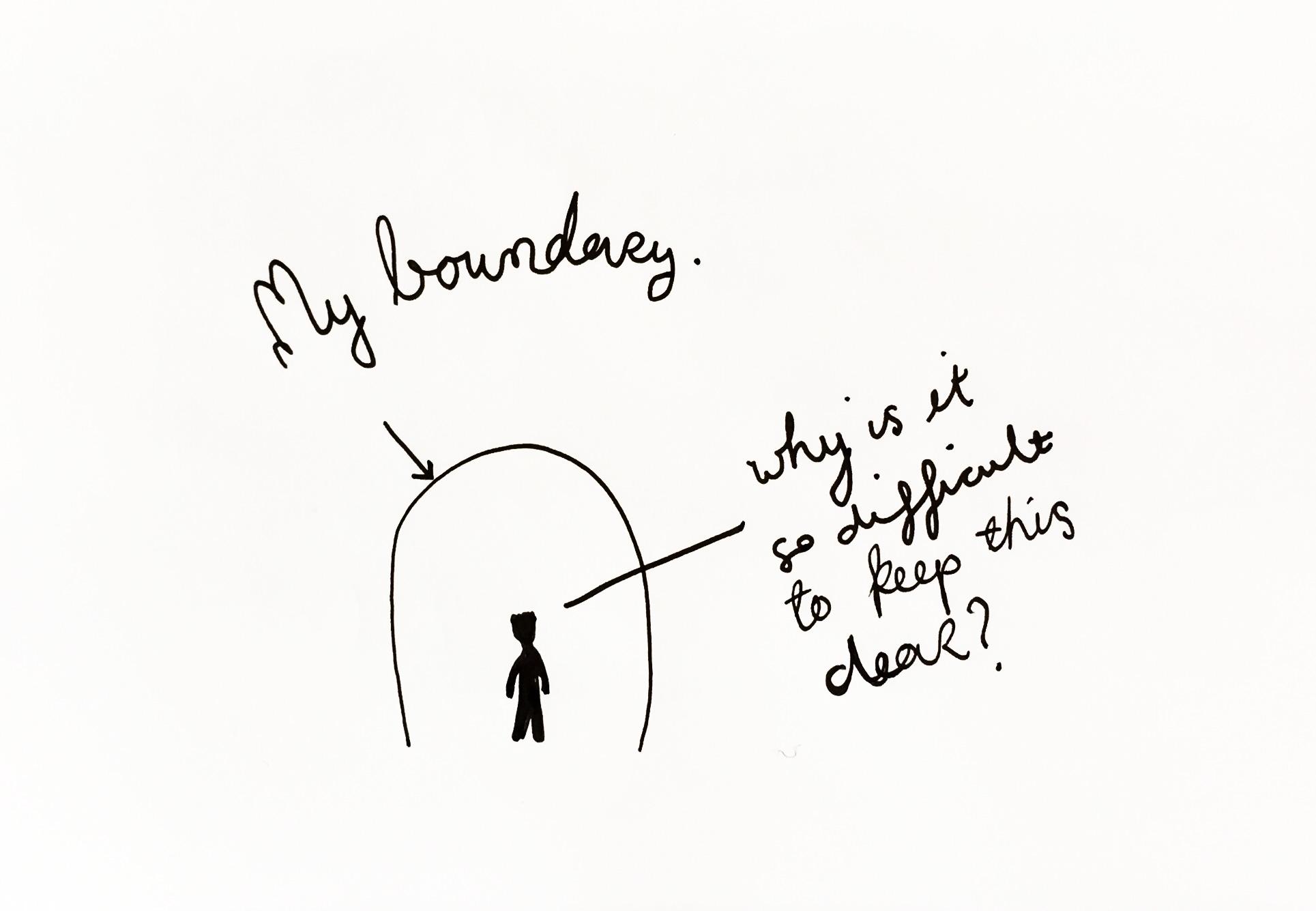 My boundary. Drawing Luke Hockley.