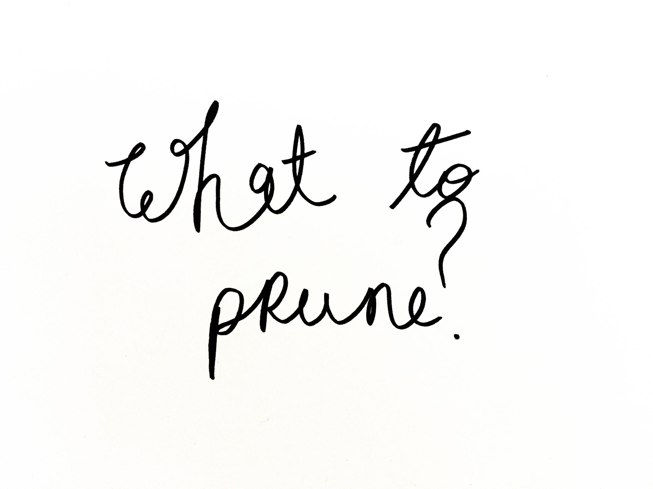 What to prune? Drawing Luke Hockley.