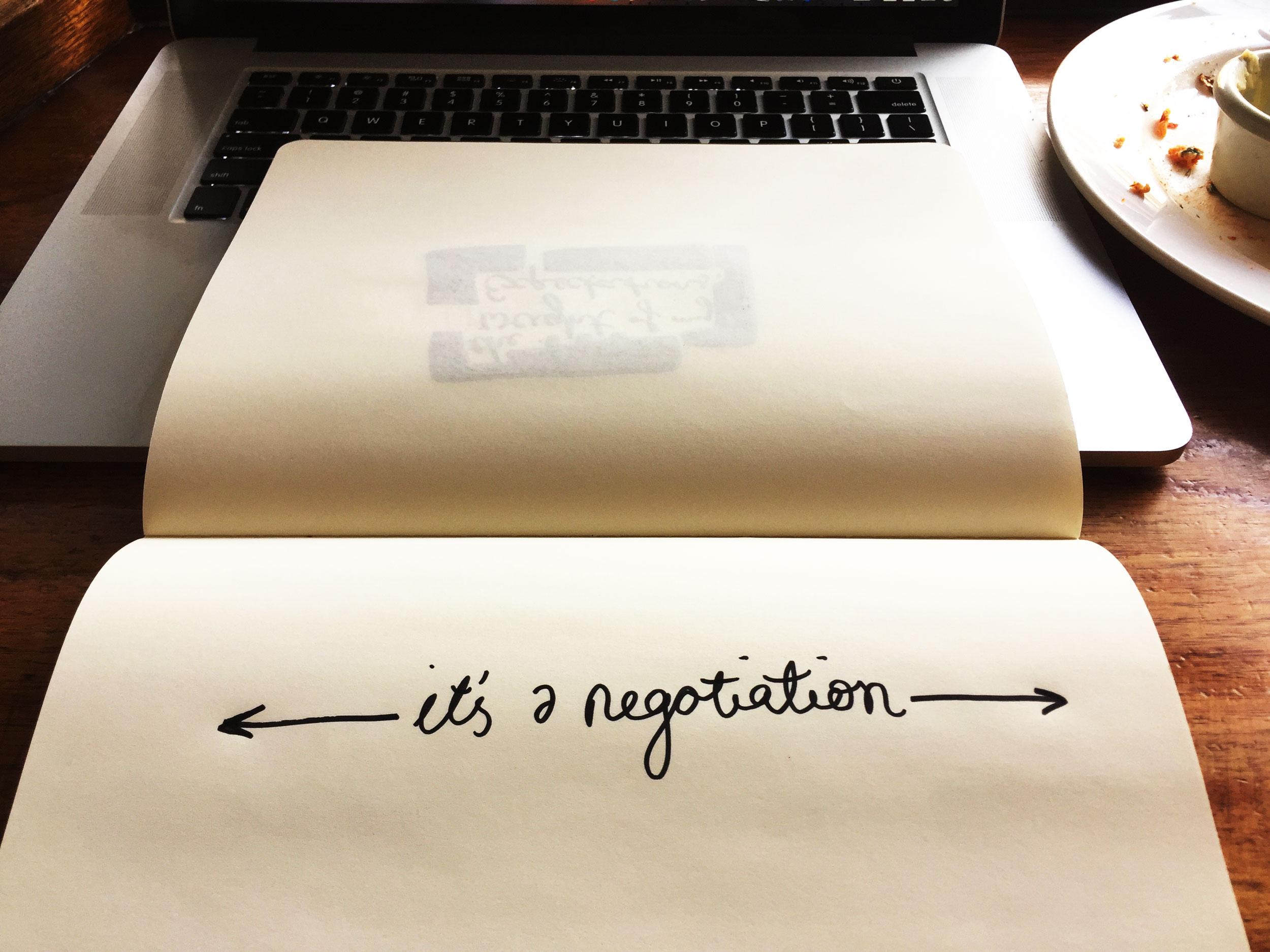 It's a negotiation. Drawing Luke Hockley.