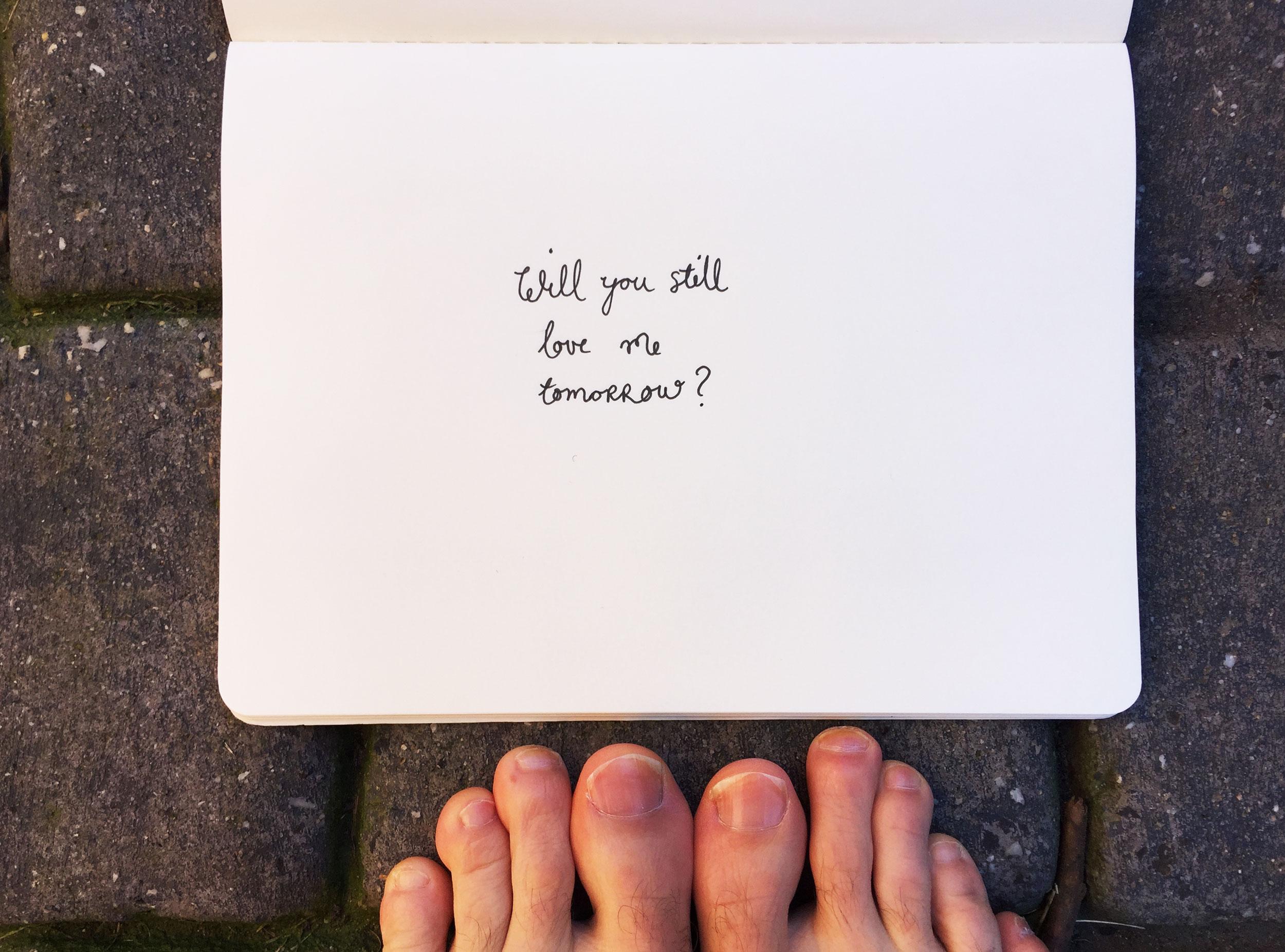 Will you still love me tomorrow? Drawing Luke Hockley.