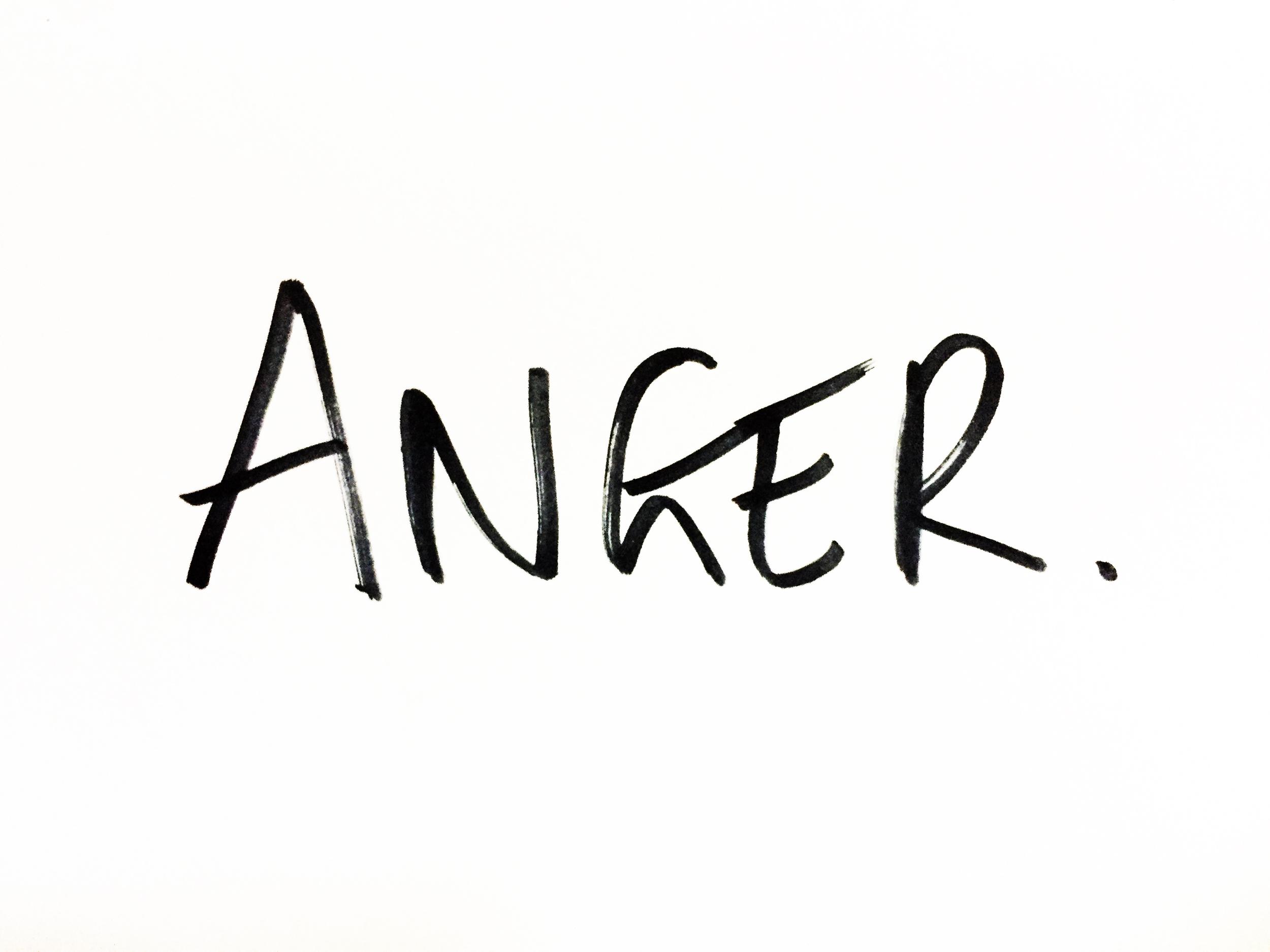 Anger. Drawing Luke Hockley.