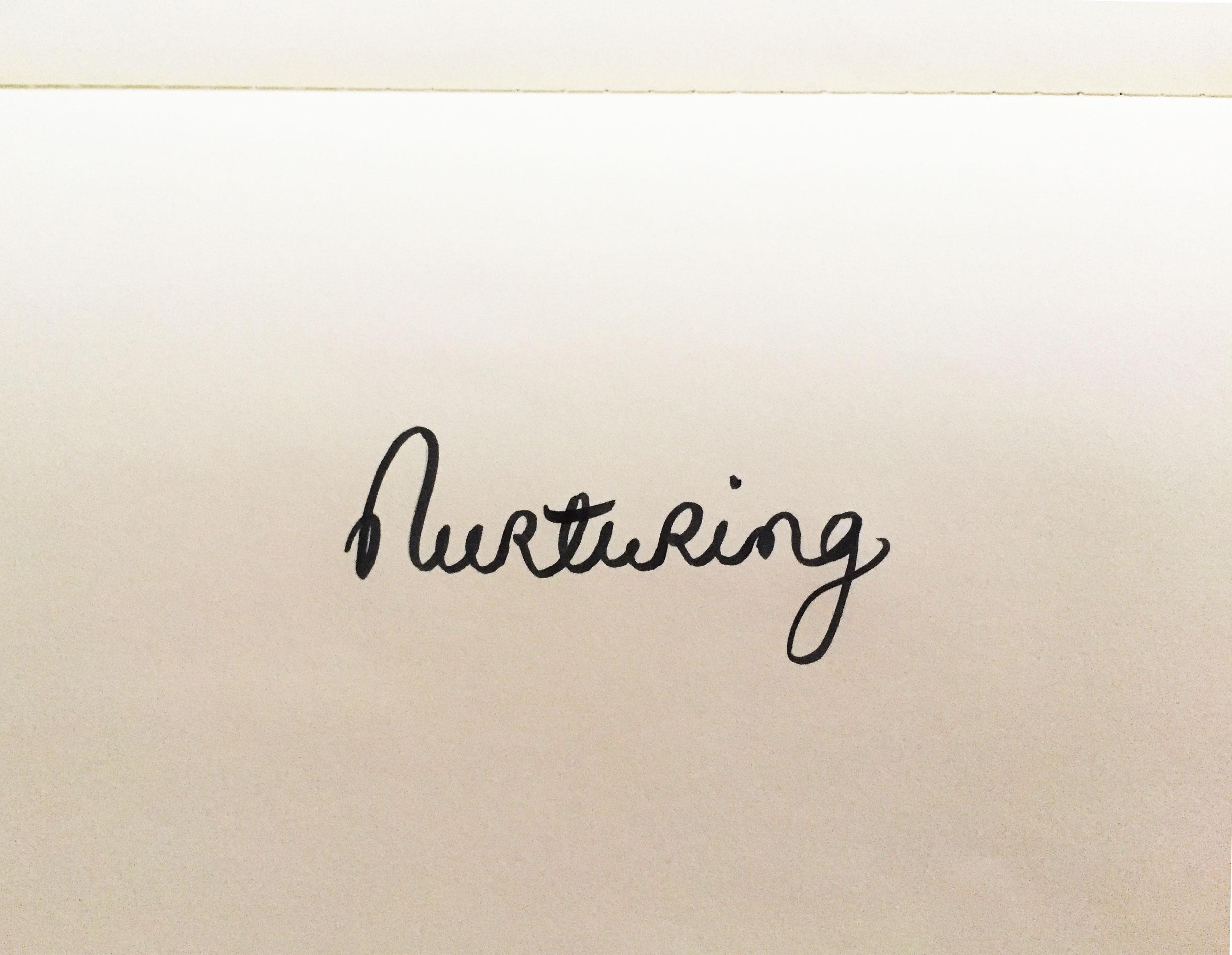 Nurturing. Drawing Luke Hockley.