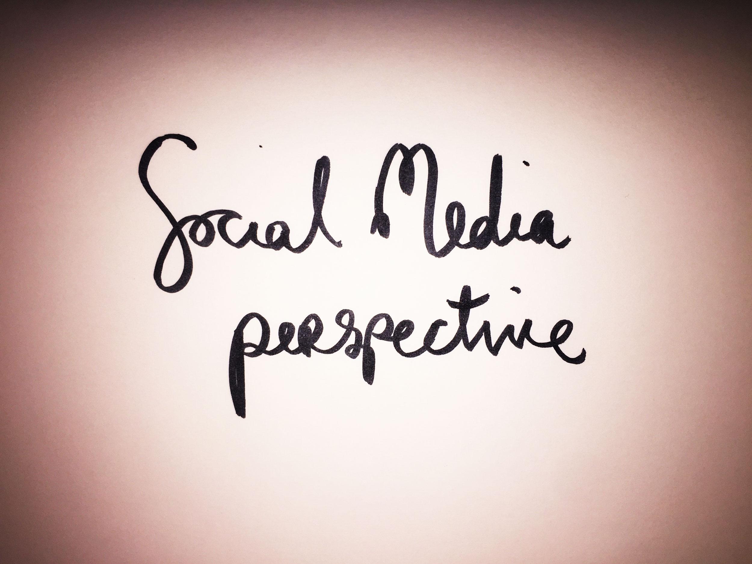 Social media perspective. Drawing Luke Hockley.