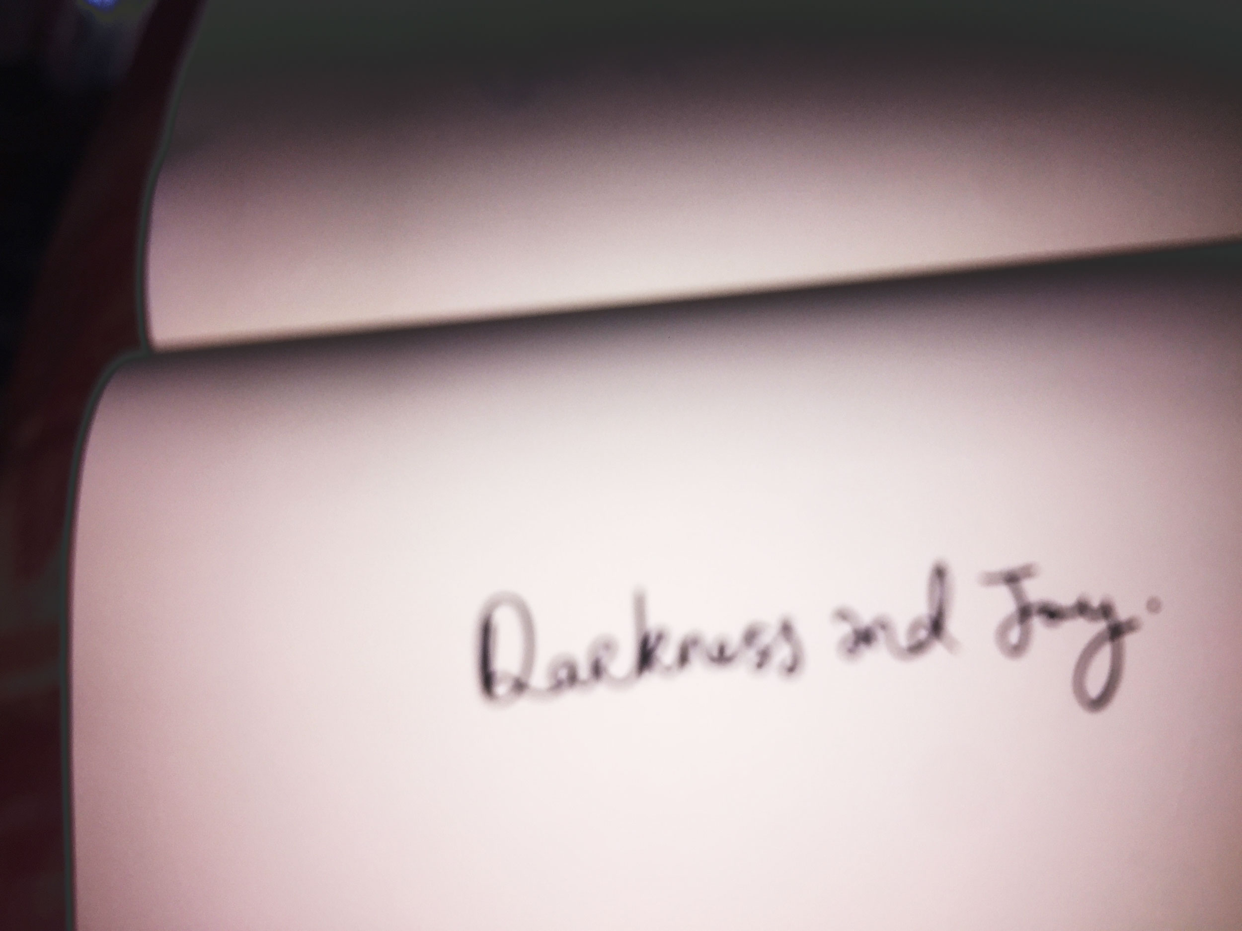 Darkness and Joy. Drawing Luke Hockley.