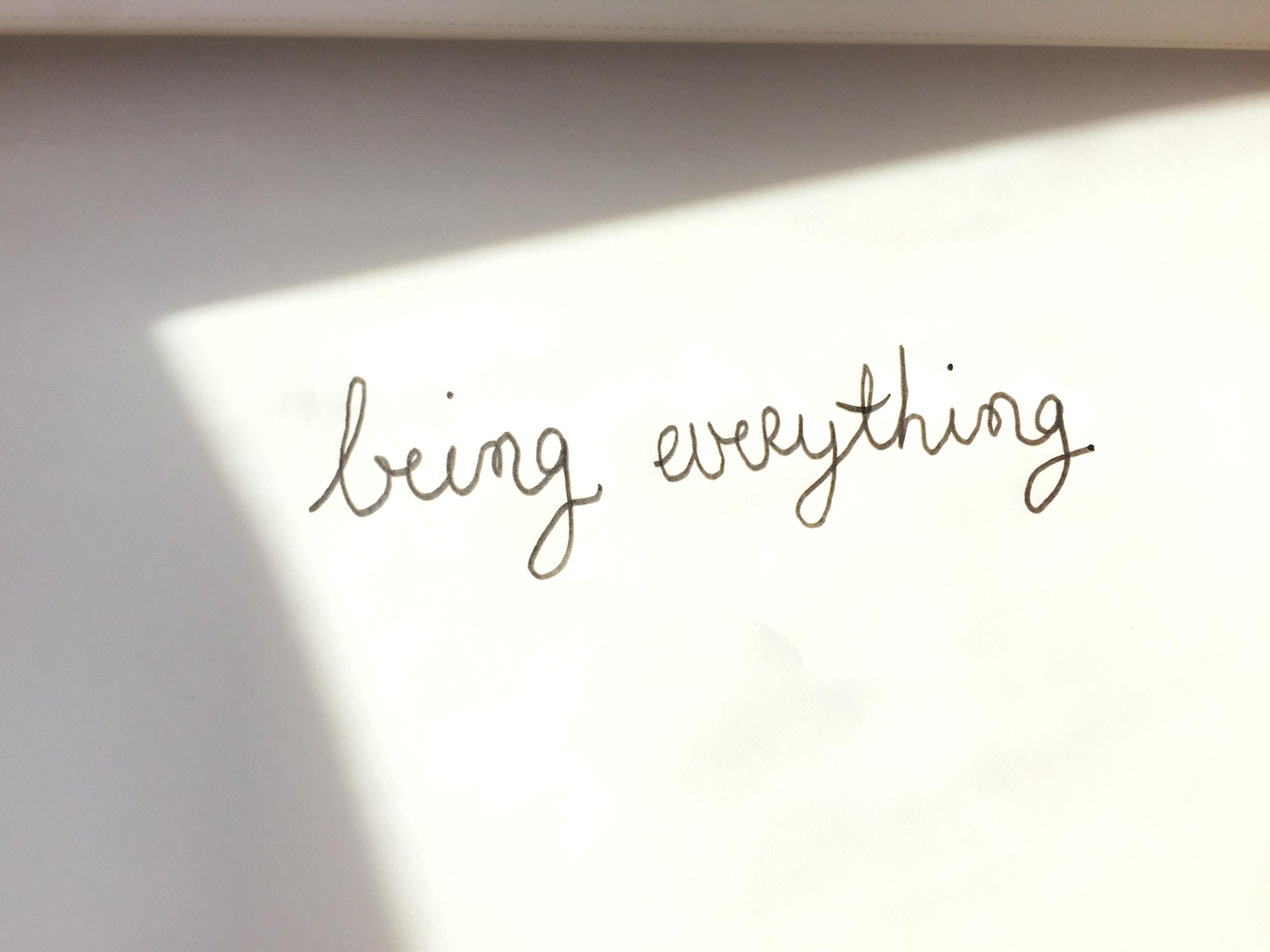 Being everything. Drawing Luke Hockley.