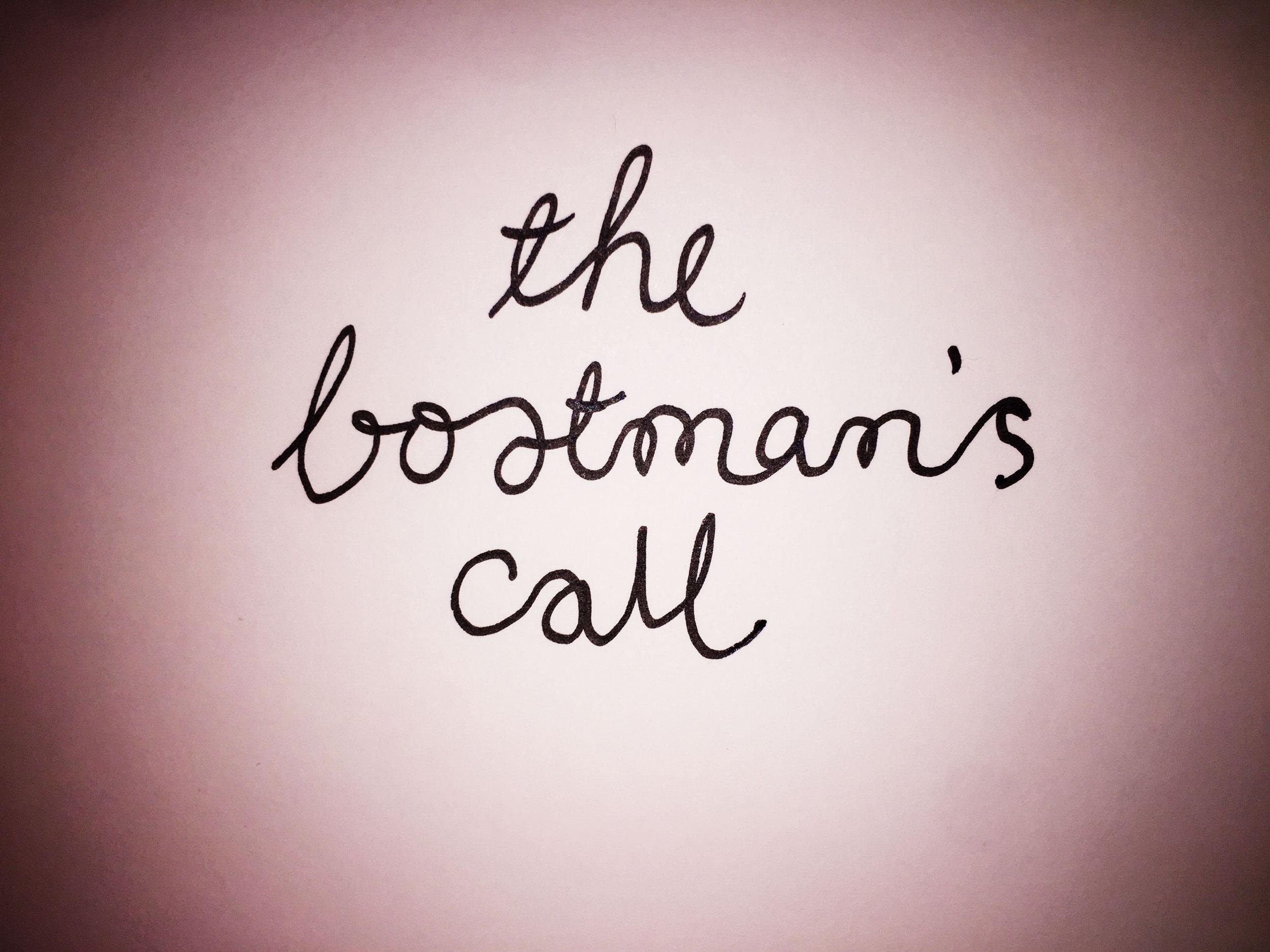 The boatman's call. Drawing Luke Hockley.