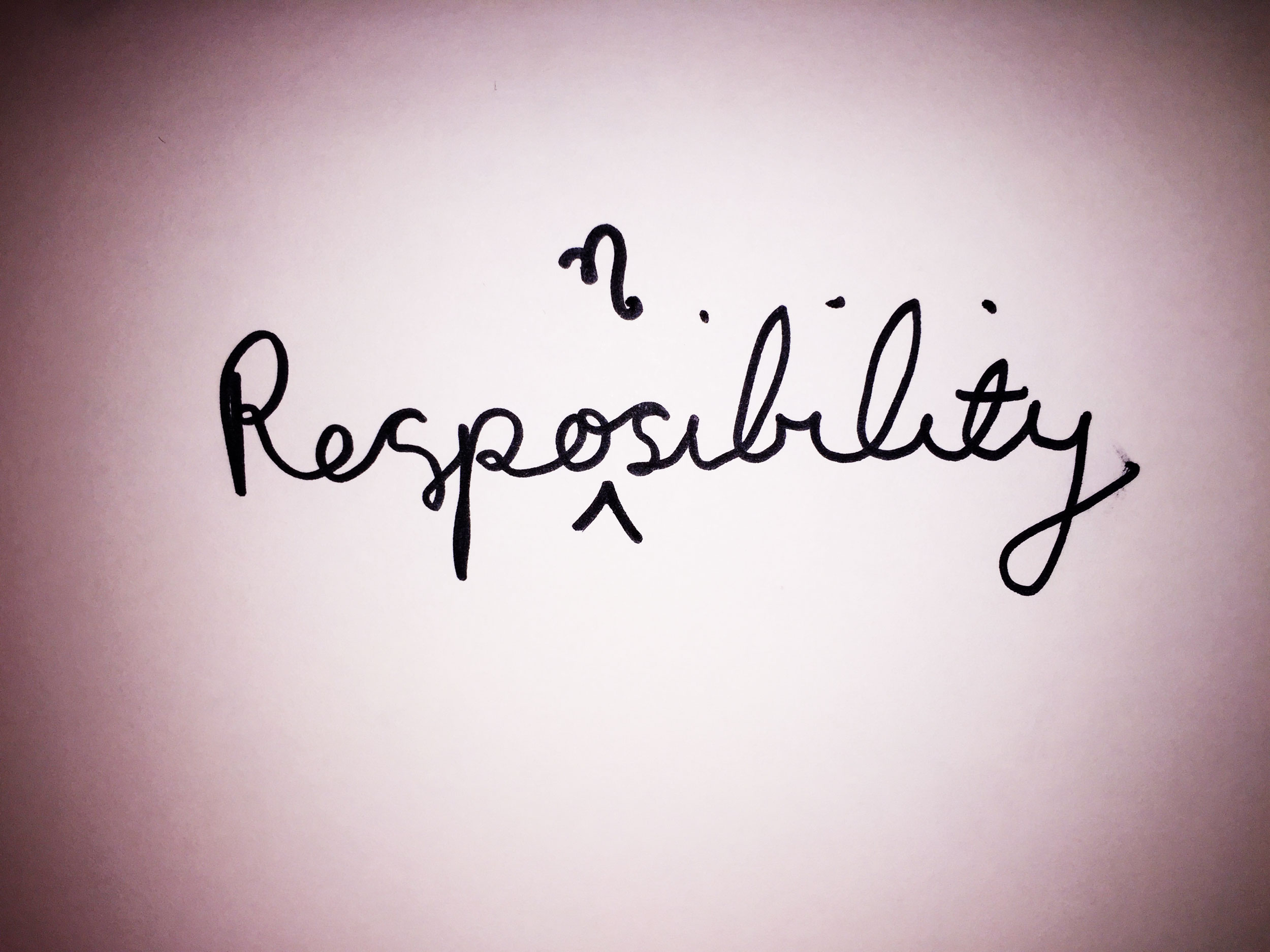 Responsibility. Drawing Luke Hockley.