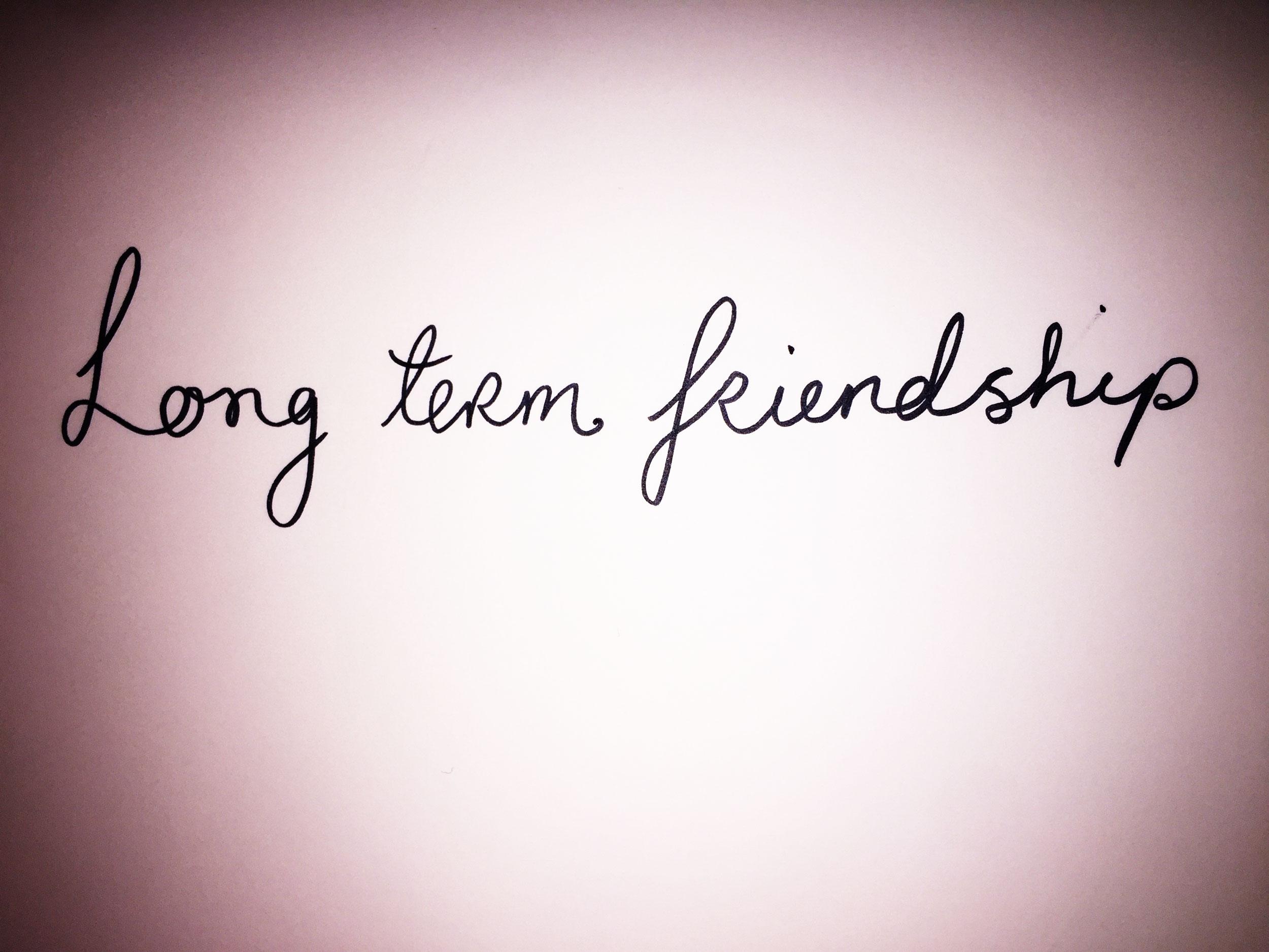Long term friendship. Drawing Luke Hockley.