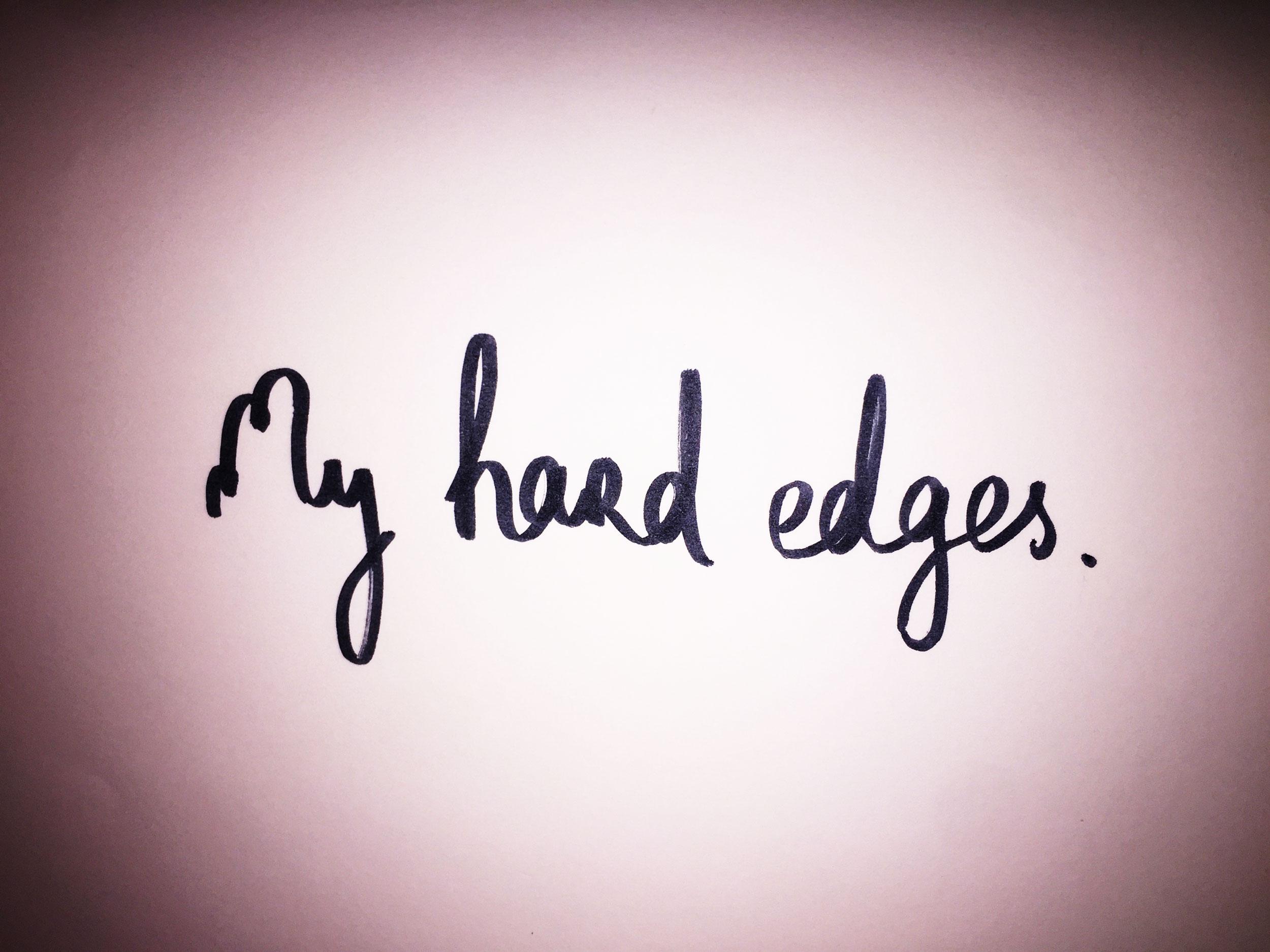 My hard edges. Drawing Luke Hockley.