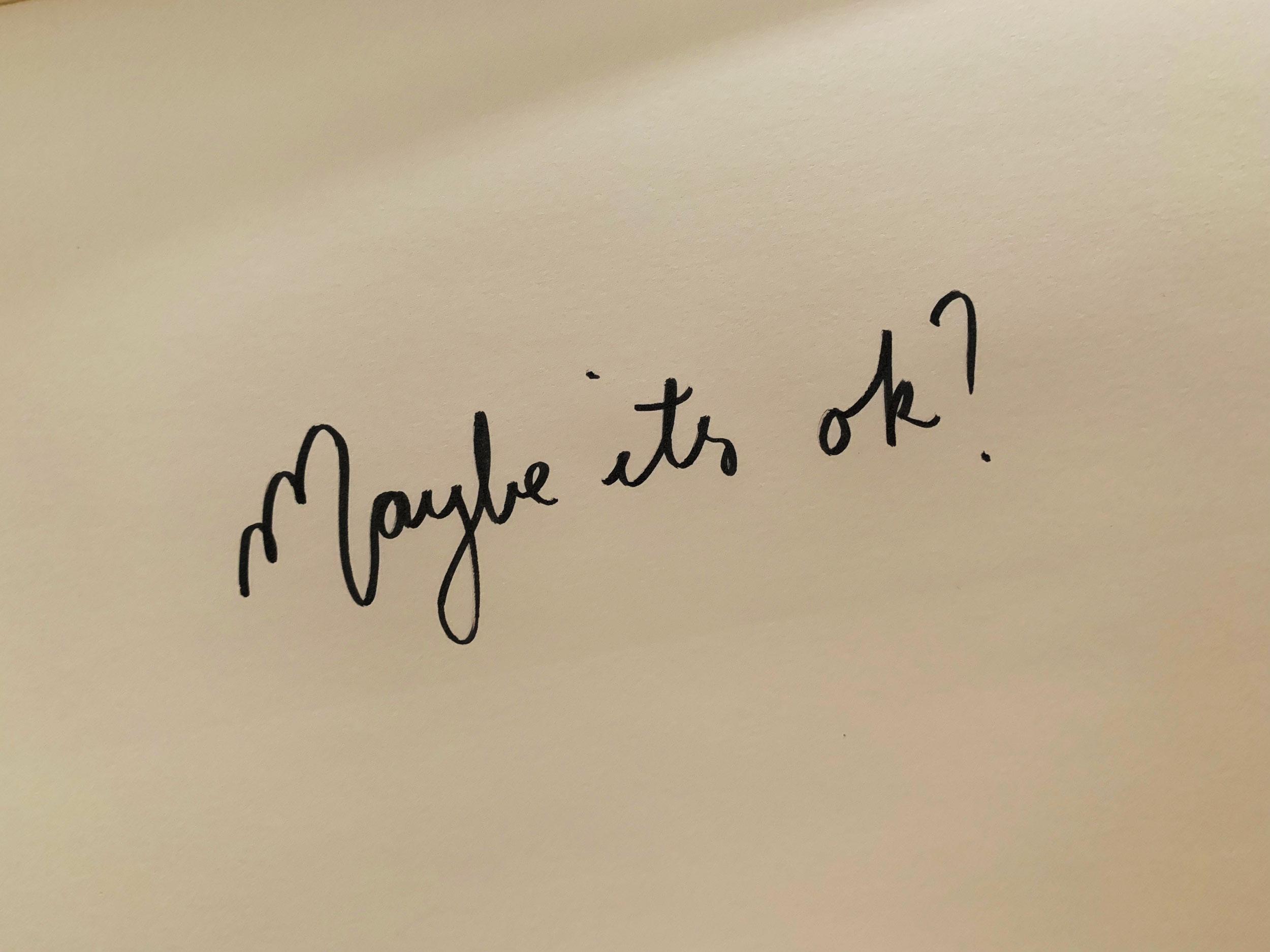 Maybe it's ok? Drawing Luke Hockley.