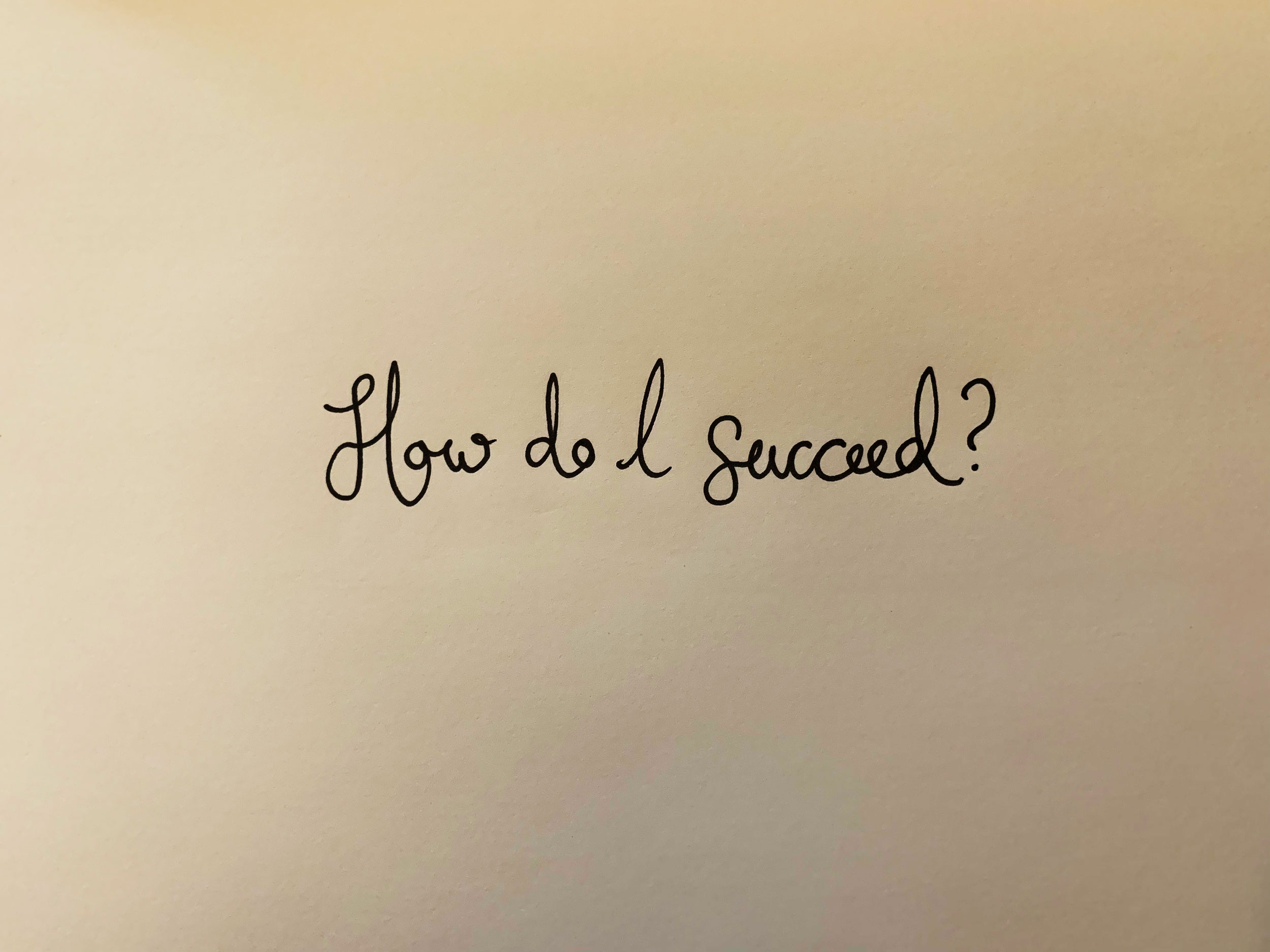 How do I succeed? Drawing Luke Hockley