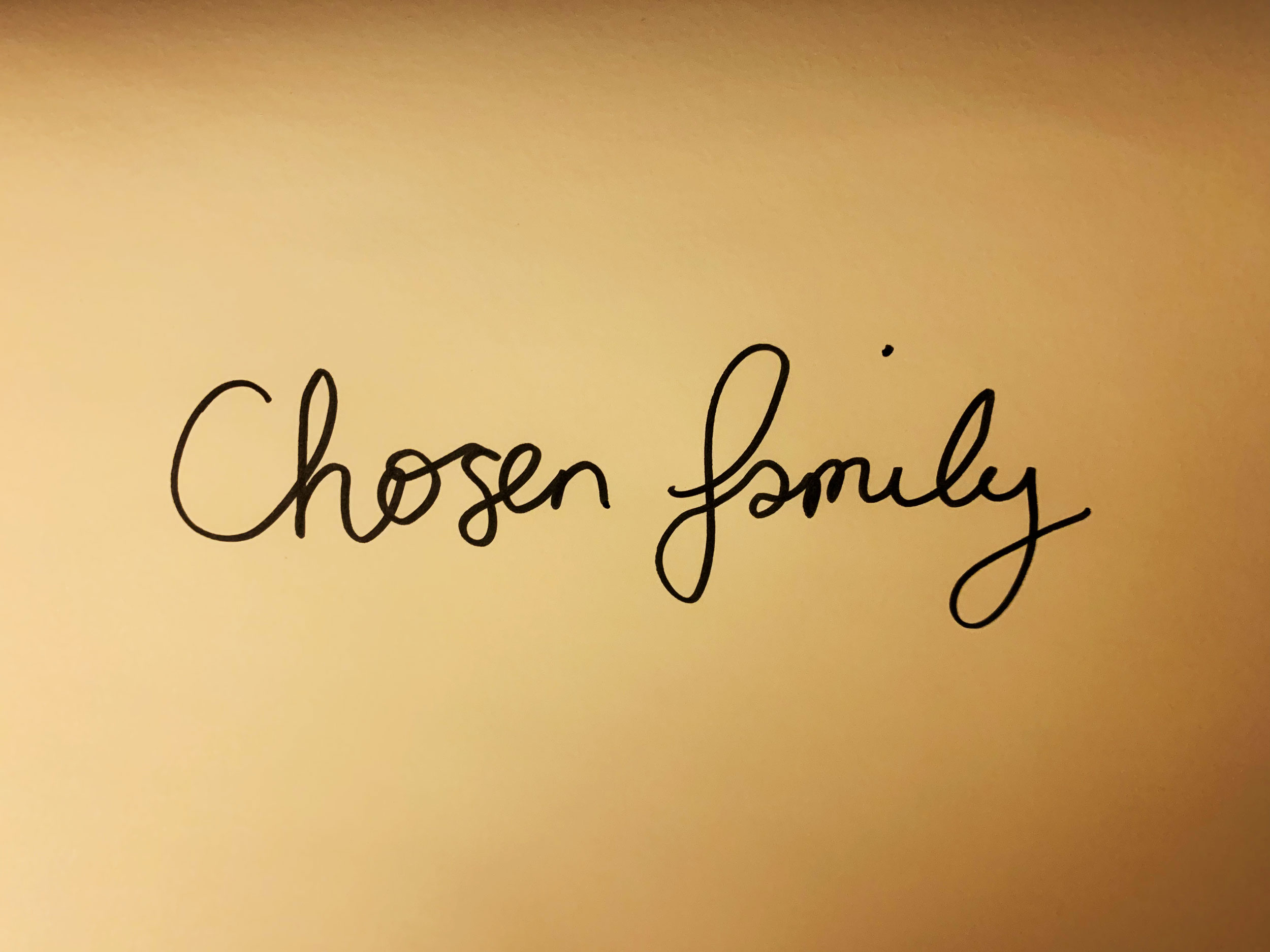 Chosen family. Drawing Luke Hockley.