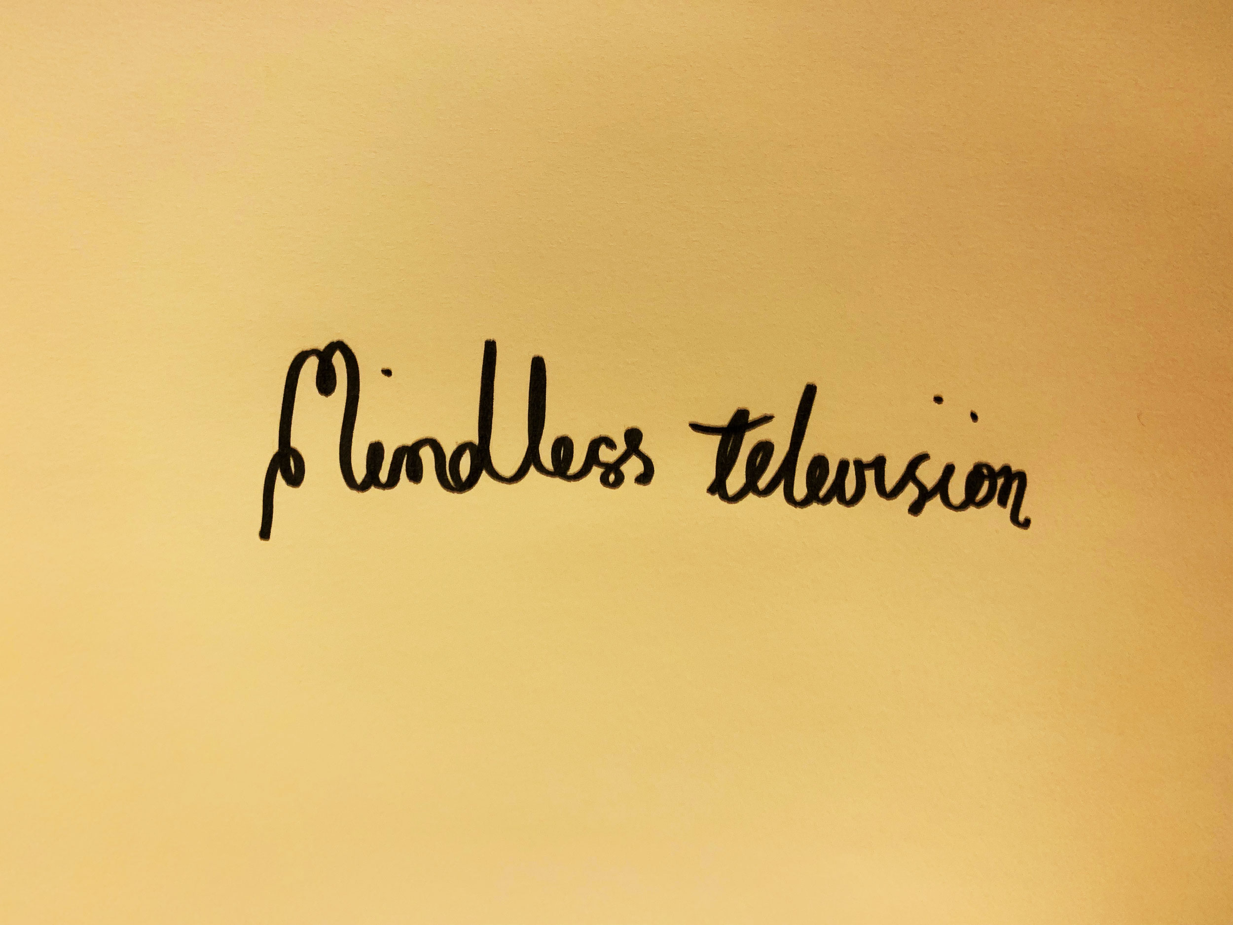 Mindless Television. Drawing Luke Hockley.
