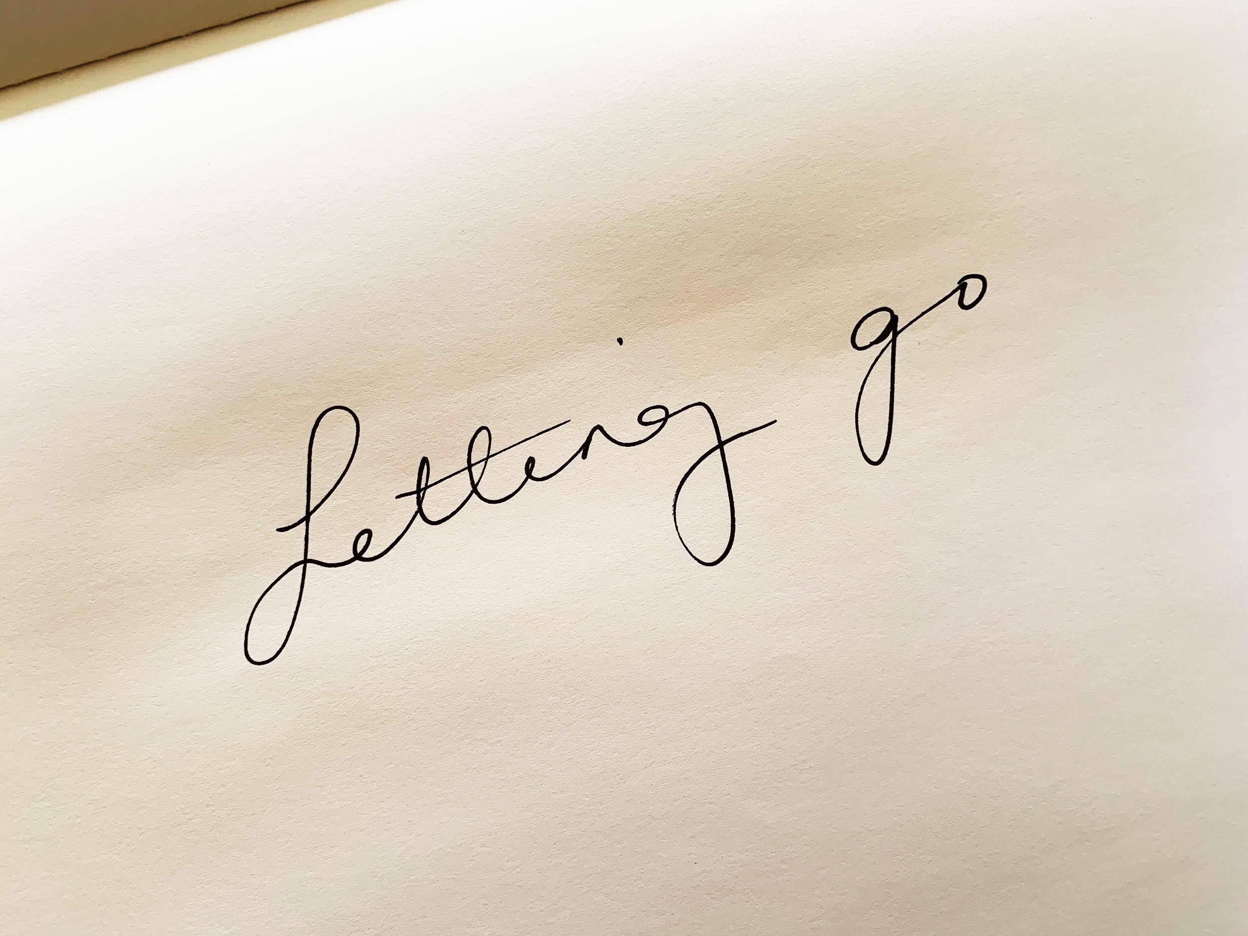 Letting go. Drawing Luke Hockley.